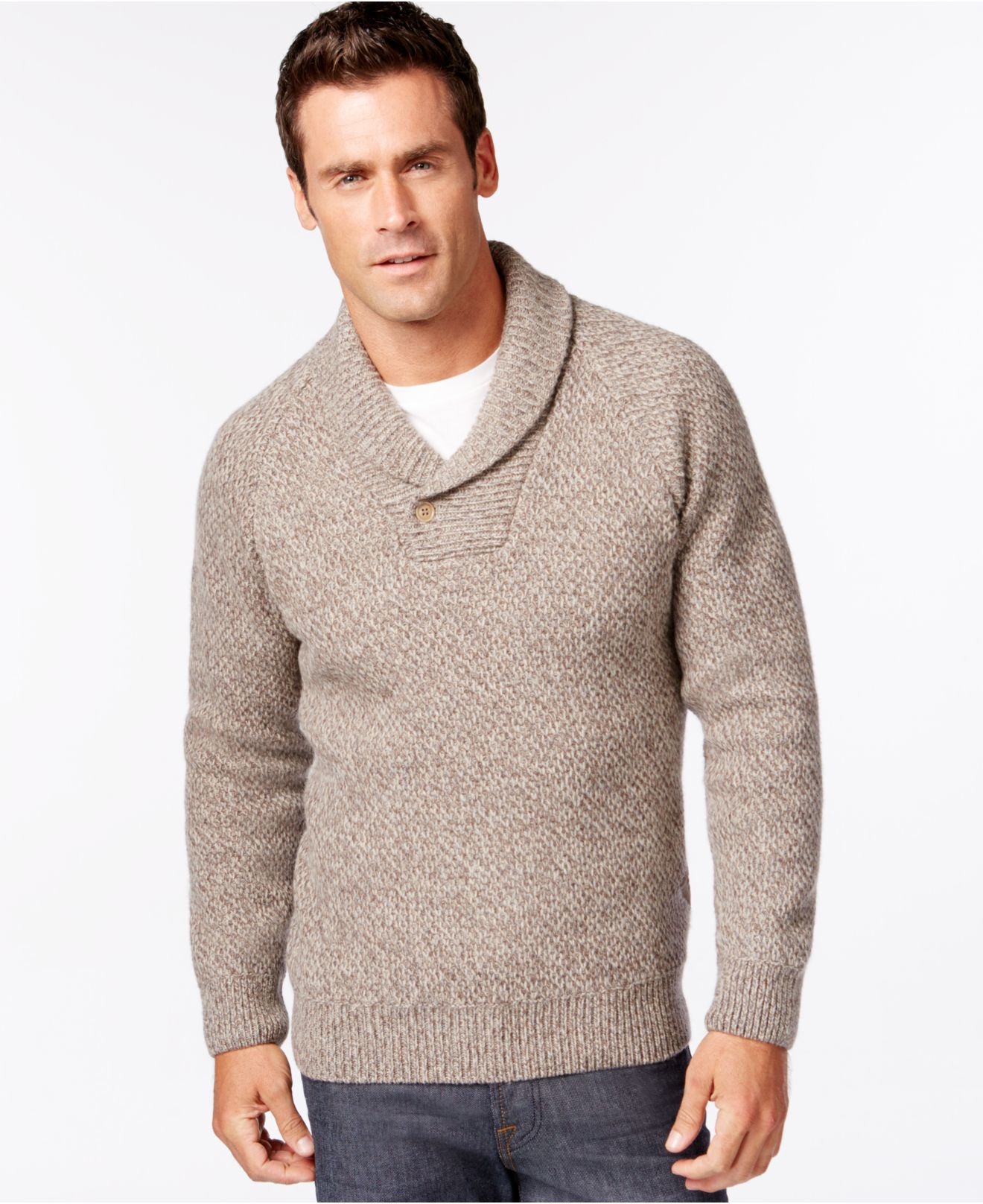 Barbour Bransfield Shawl-collar Sweater in Brown for Men | Lyst