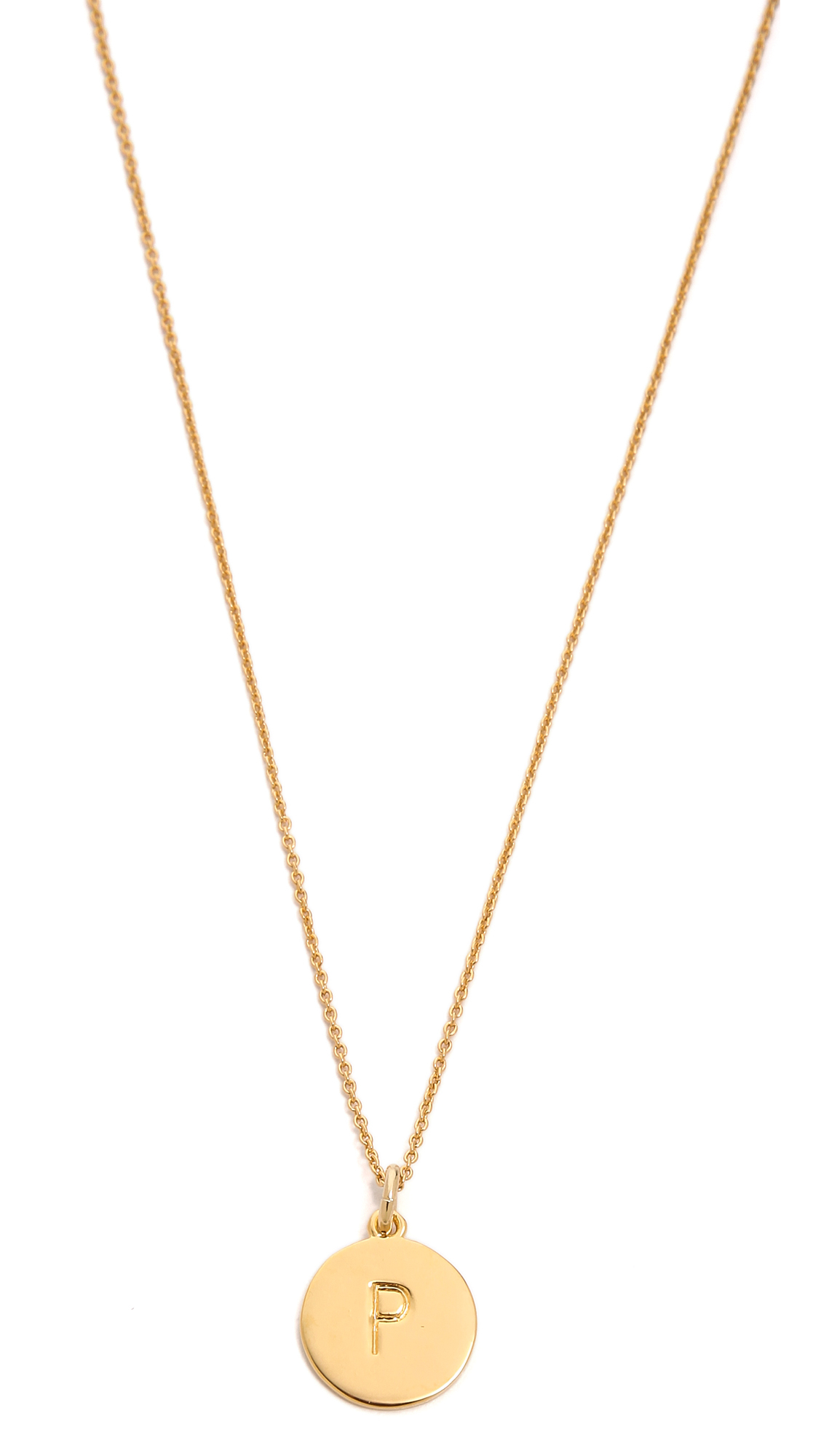 kate spade new york letter pendant necklace in metallic lyst