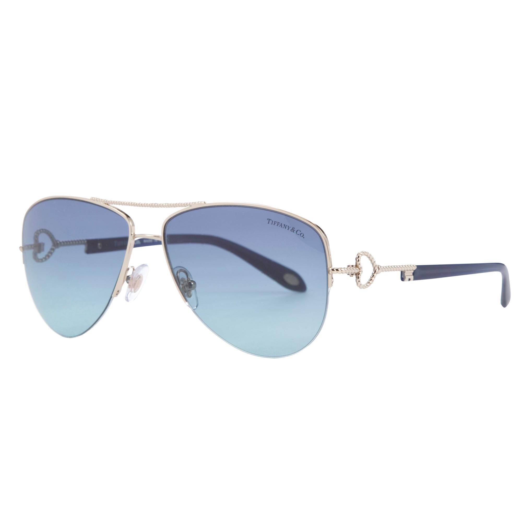 8058b64d2c Tiffany   Co. Tf3046 Aviator Sunglasses in Blue - Lyst