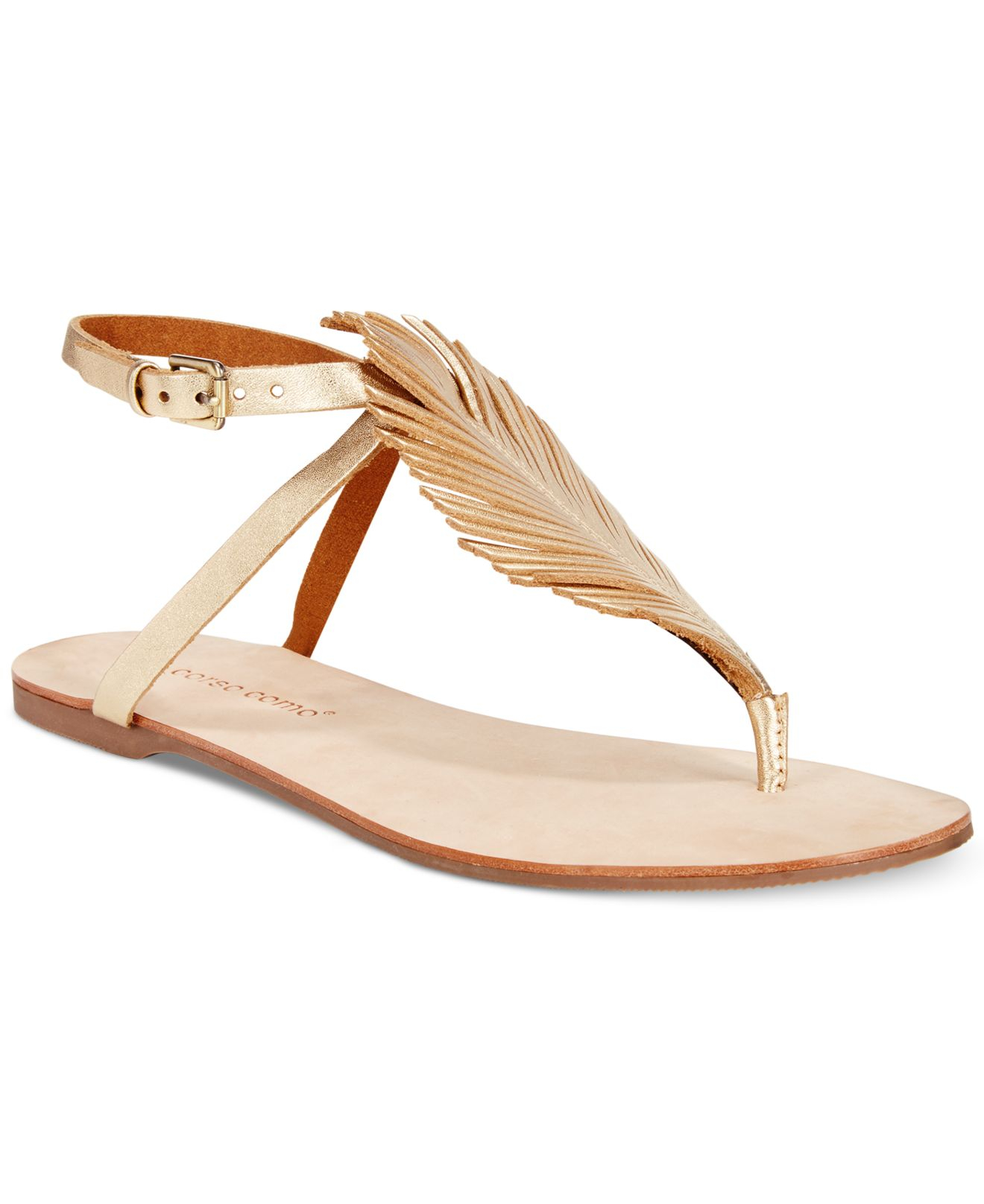 Corso Como Edgar Flat Sandals In Platinum Metallic Lyst