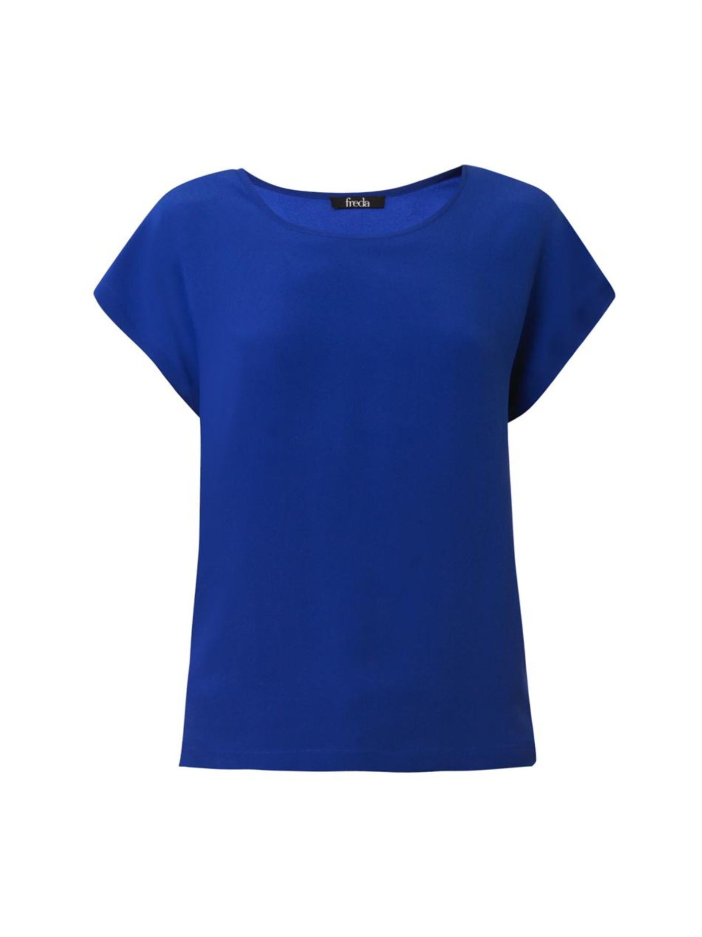 Lyst Freda Scoop Neck Silk T Shirt In Blue