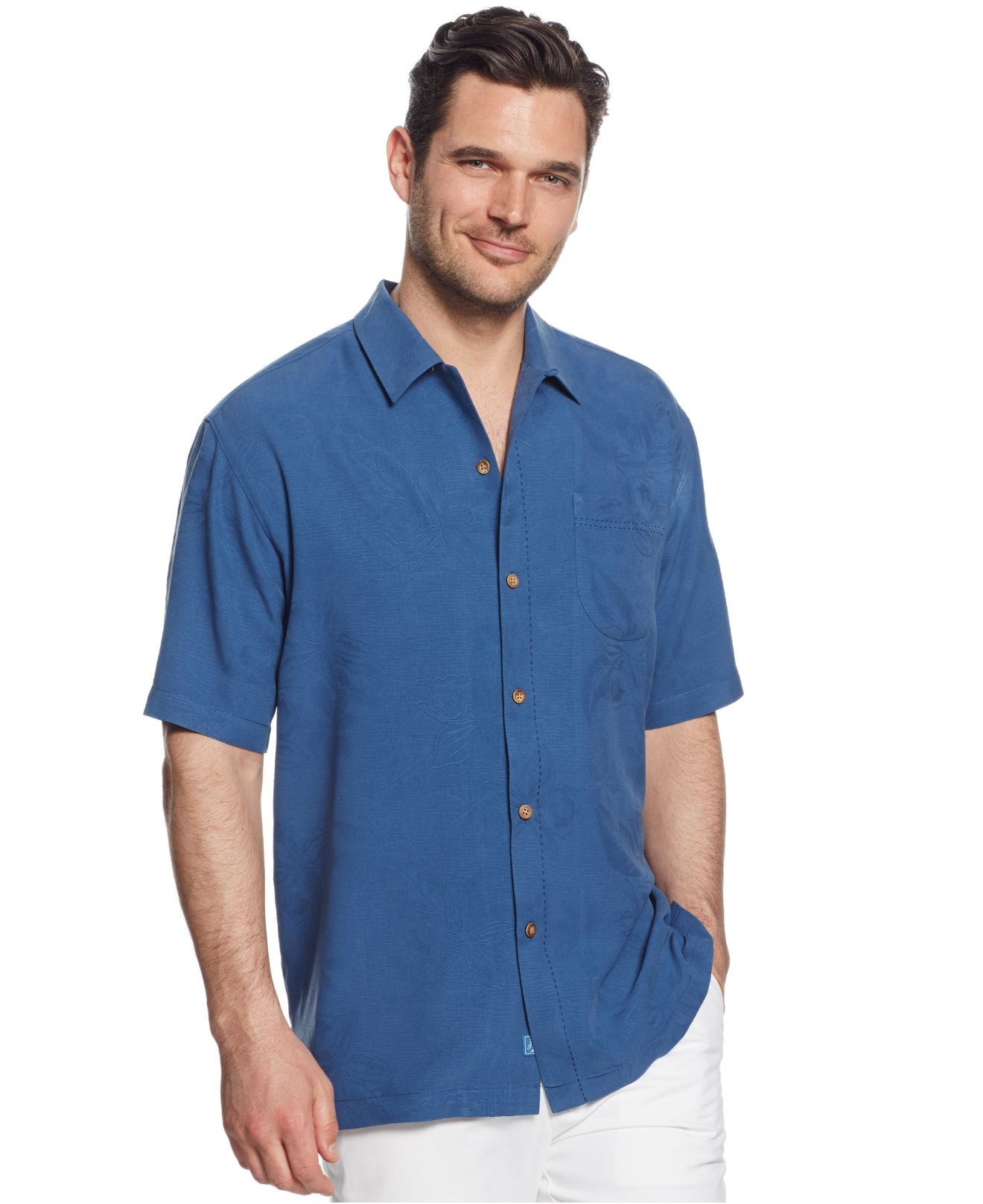 Lyst Tommy Bahama Big Tall Legroom Bar Silk Shirt In