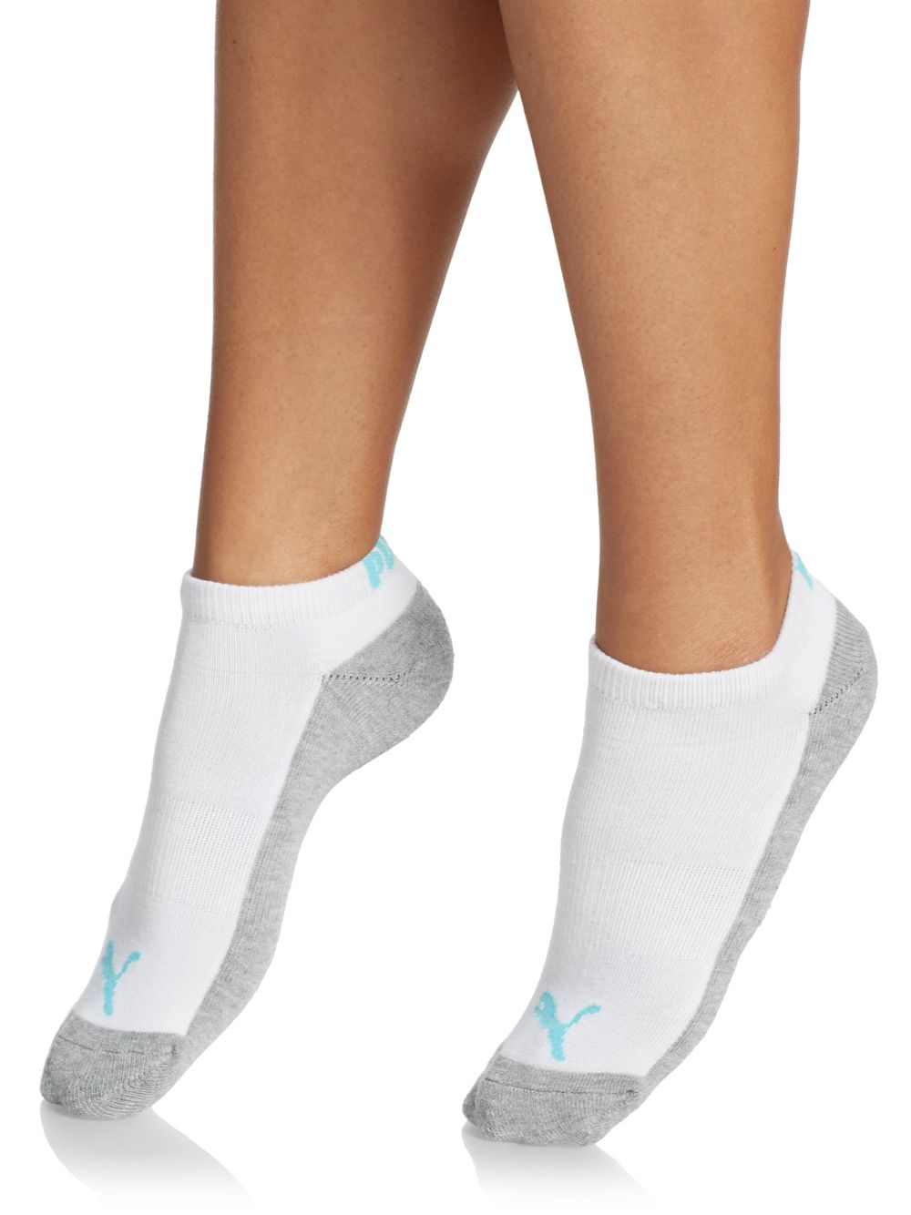 Puma Moisture Control Ankle Socks/6-pack in White