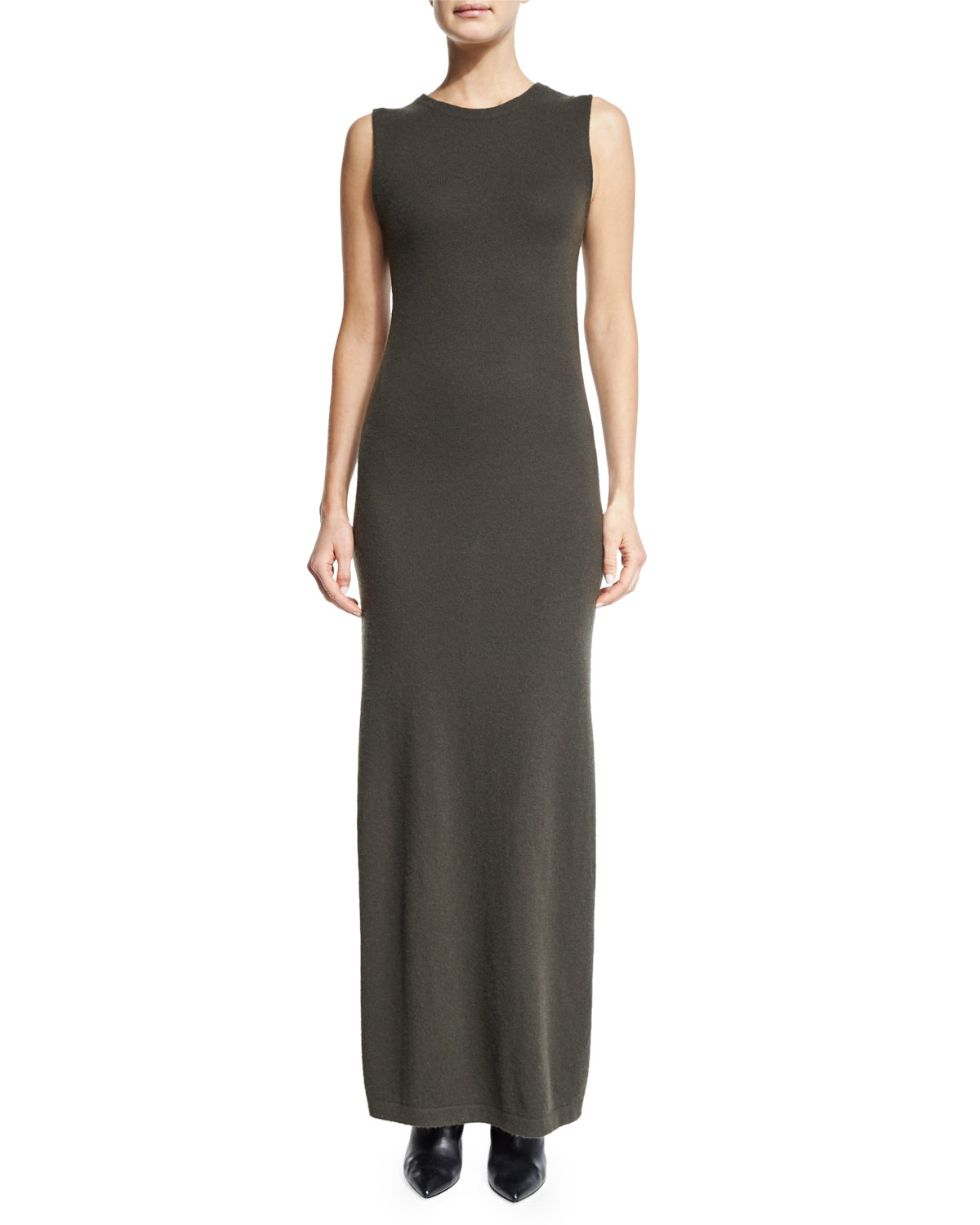 Ginia Cashmere Gowns Wrap Gown: Theory Dorada Cashmere Maxi Dress In Gray