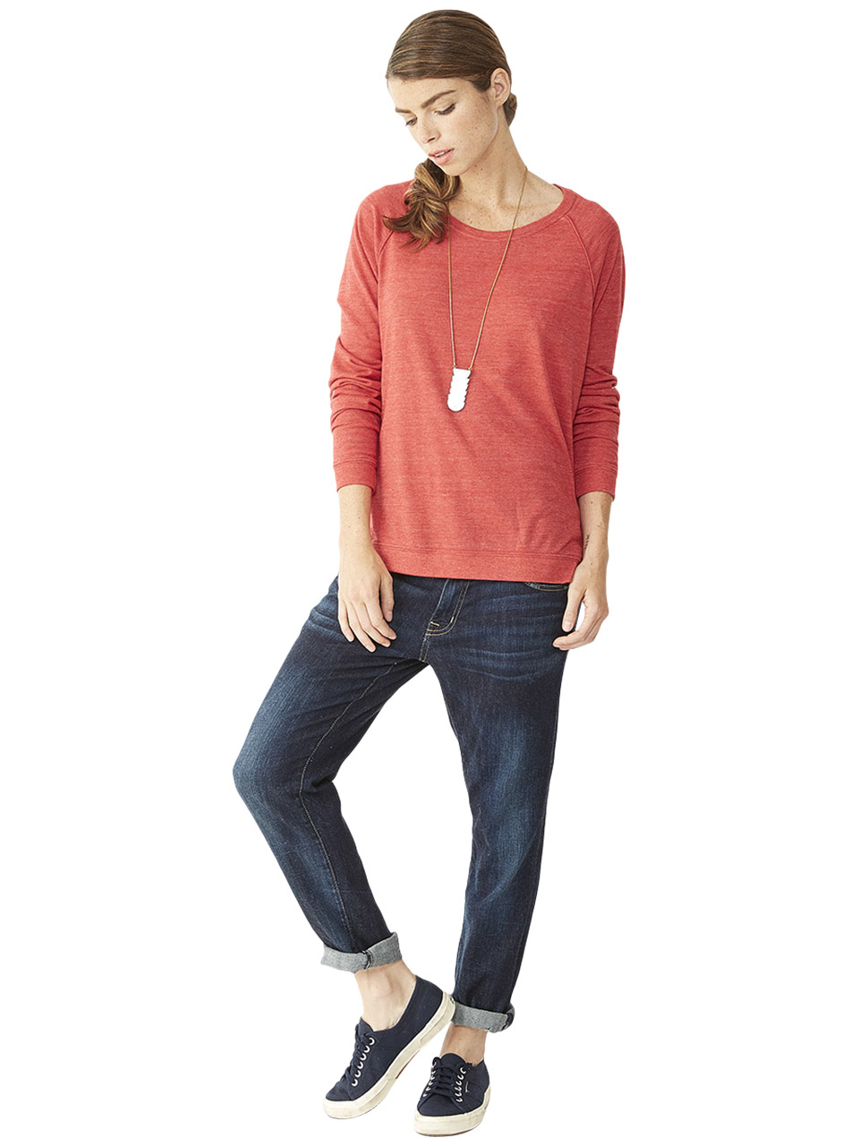 alternative apparel locker room eco jersey pullover in