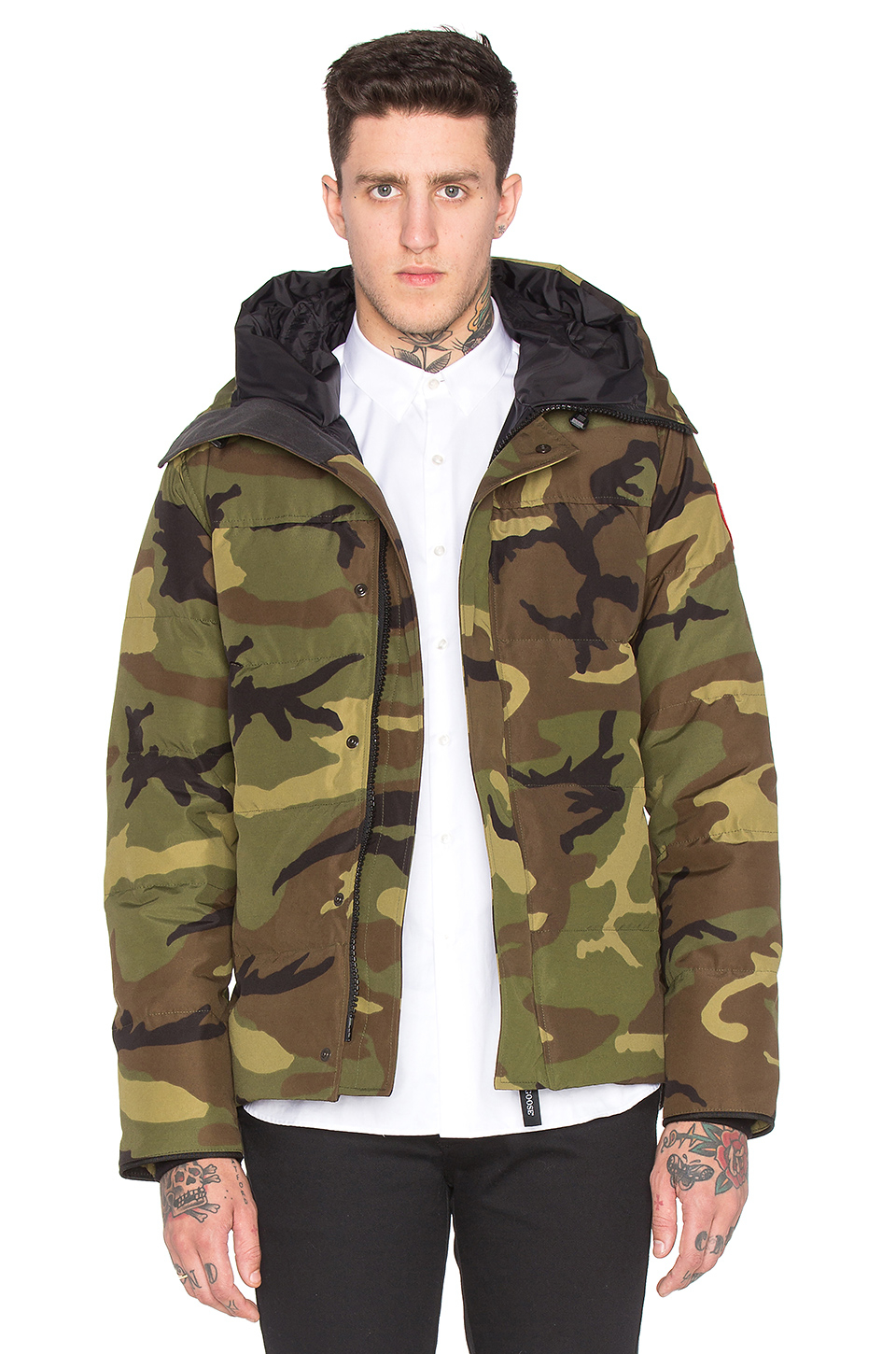 0411499c3295 uk lyst canada goose macmillan parka in green for men 1a9c1 7076f