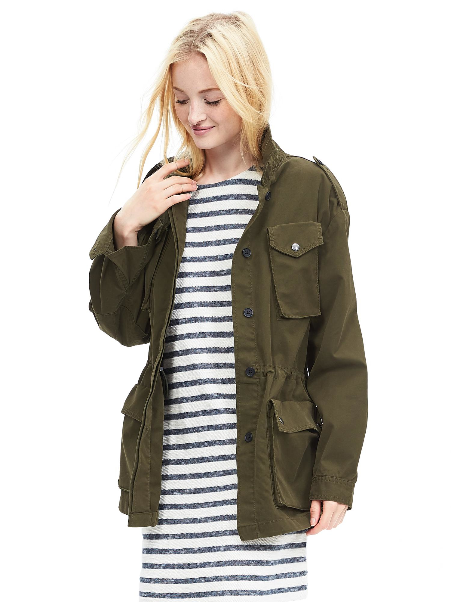 Lyst Banana Republic Military Jacket In Green