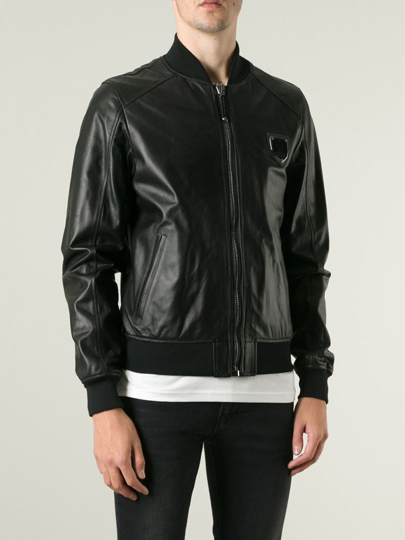 7ace9ae5a Philipp Plein 'demon' Bomber Jacket in Black for Men - Lyst