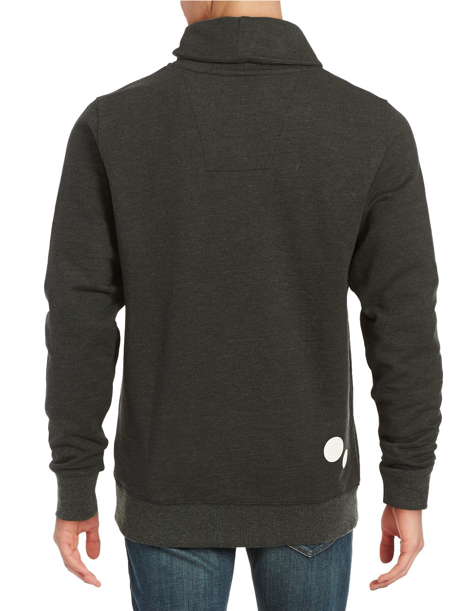 star raw asymmetrical zip pullover in black for men lyst. Black Bedroom Furniture Sets. Home Design Ideas