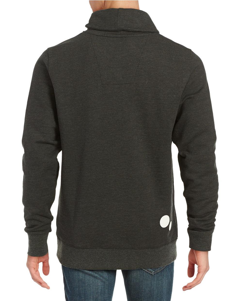 g star raw asymmetrical zip pullover in black for men lyst. Black Bedroom Furniture Sets. Home Design Ideas