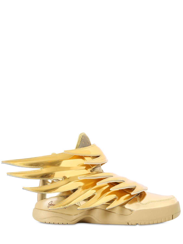Jeremy Scott for adidas Js Wings 3.0 Faux Leather Sneakers in Gold (Metallic)