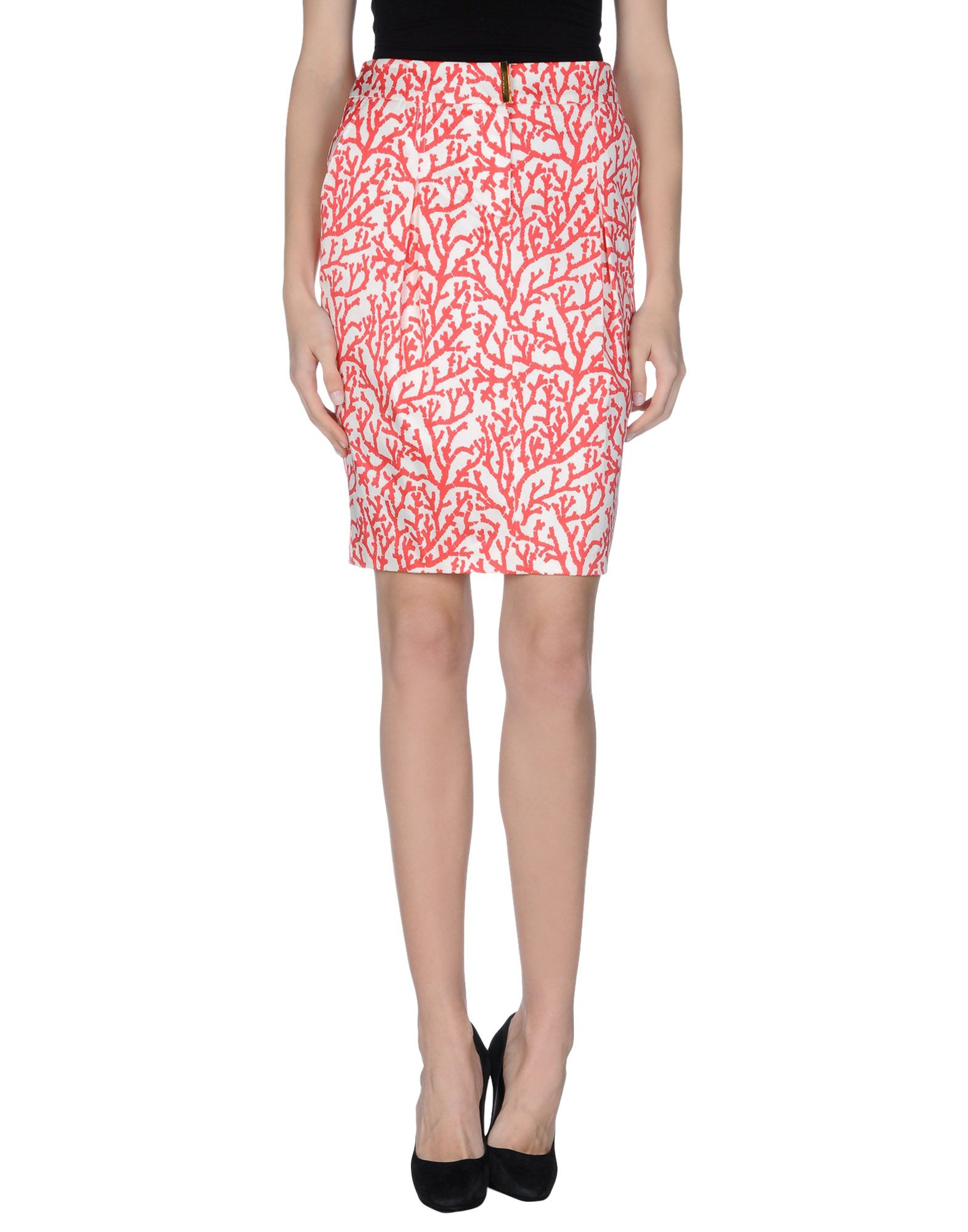 les copains knee length skirt in pink coral lyst