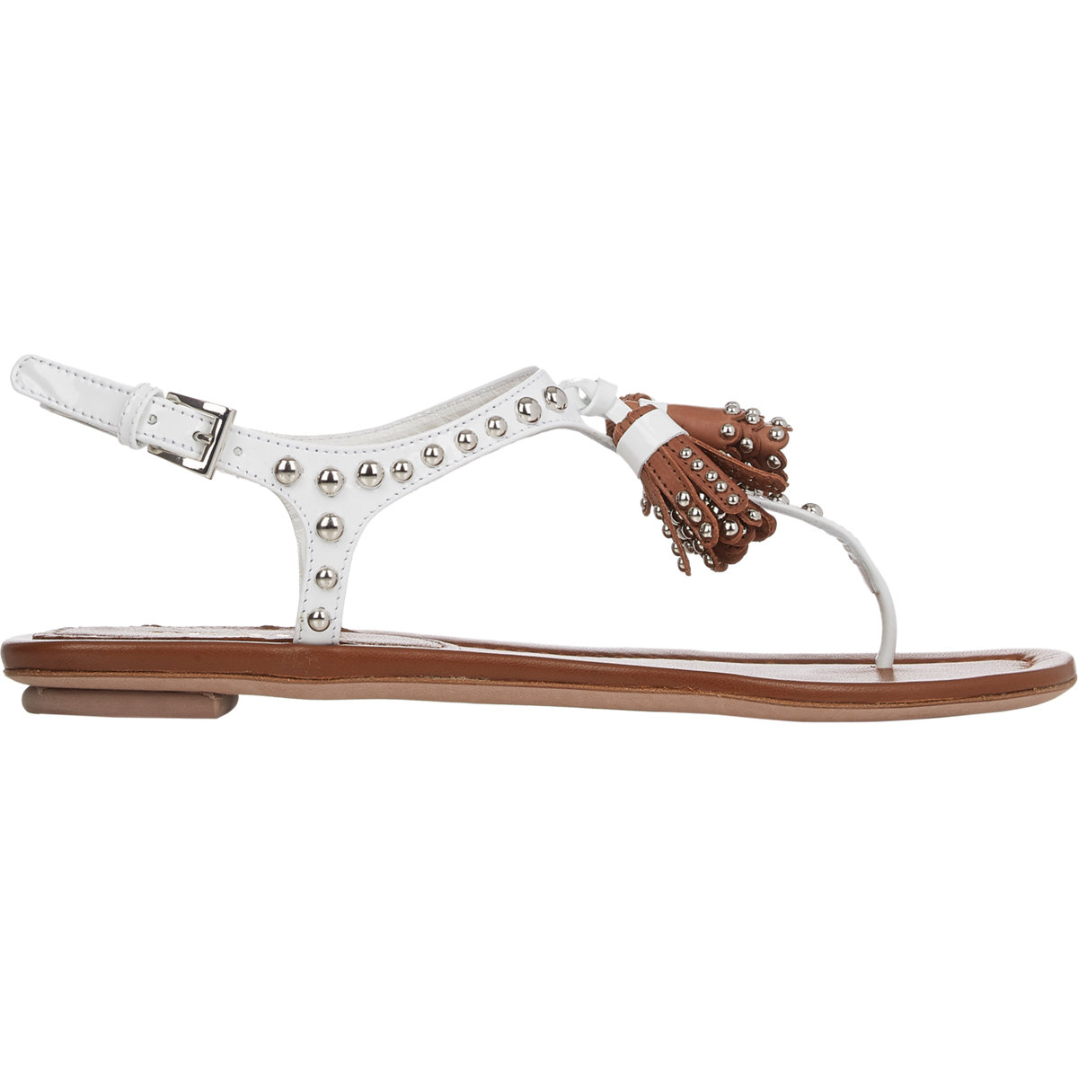 Prada Tassel T-Strap Sandals buy cheap extremely low cost for sale amazon for sale pre order online EnSuH