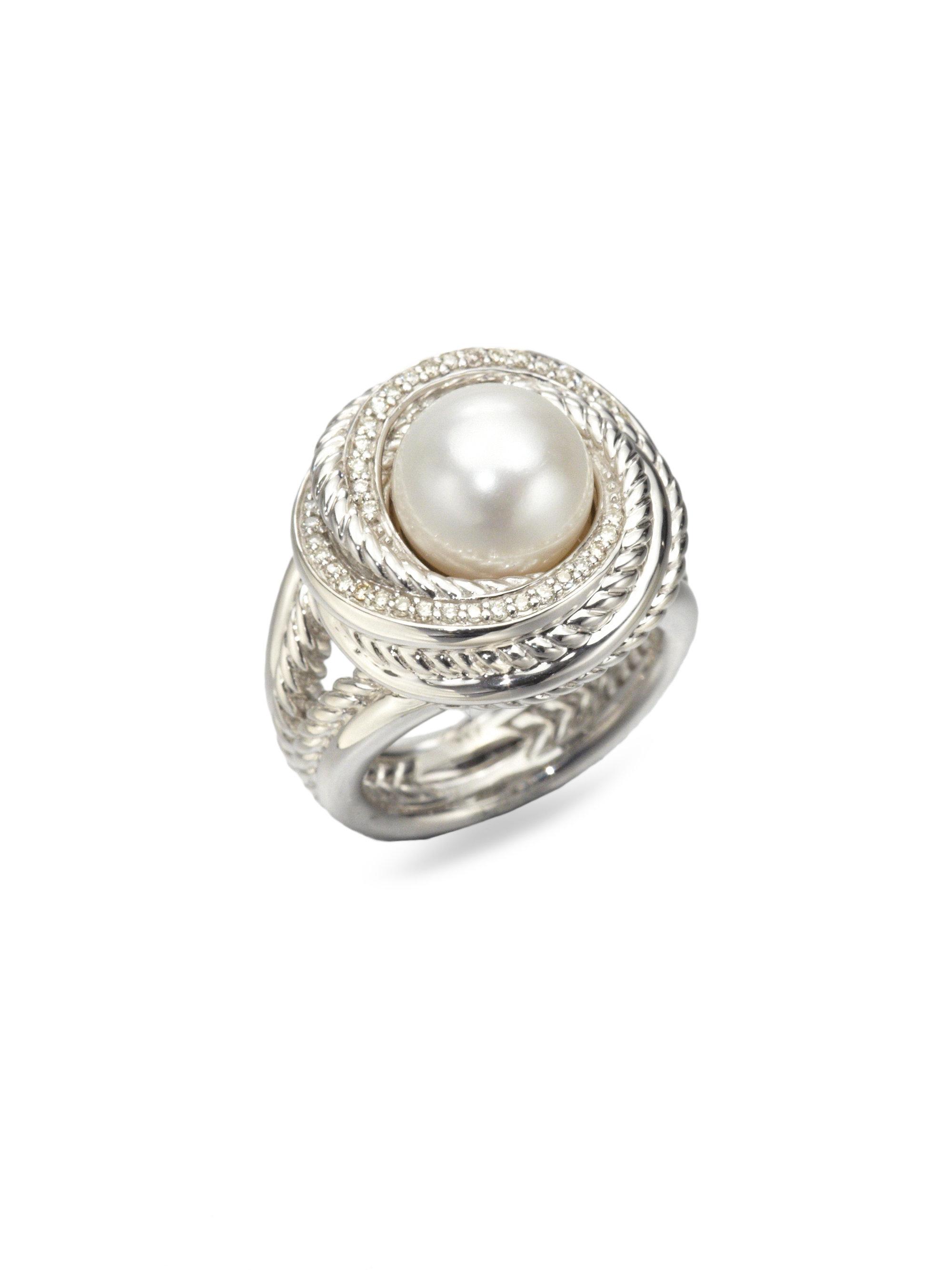 david yurman pearl sterling silver ring in silver