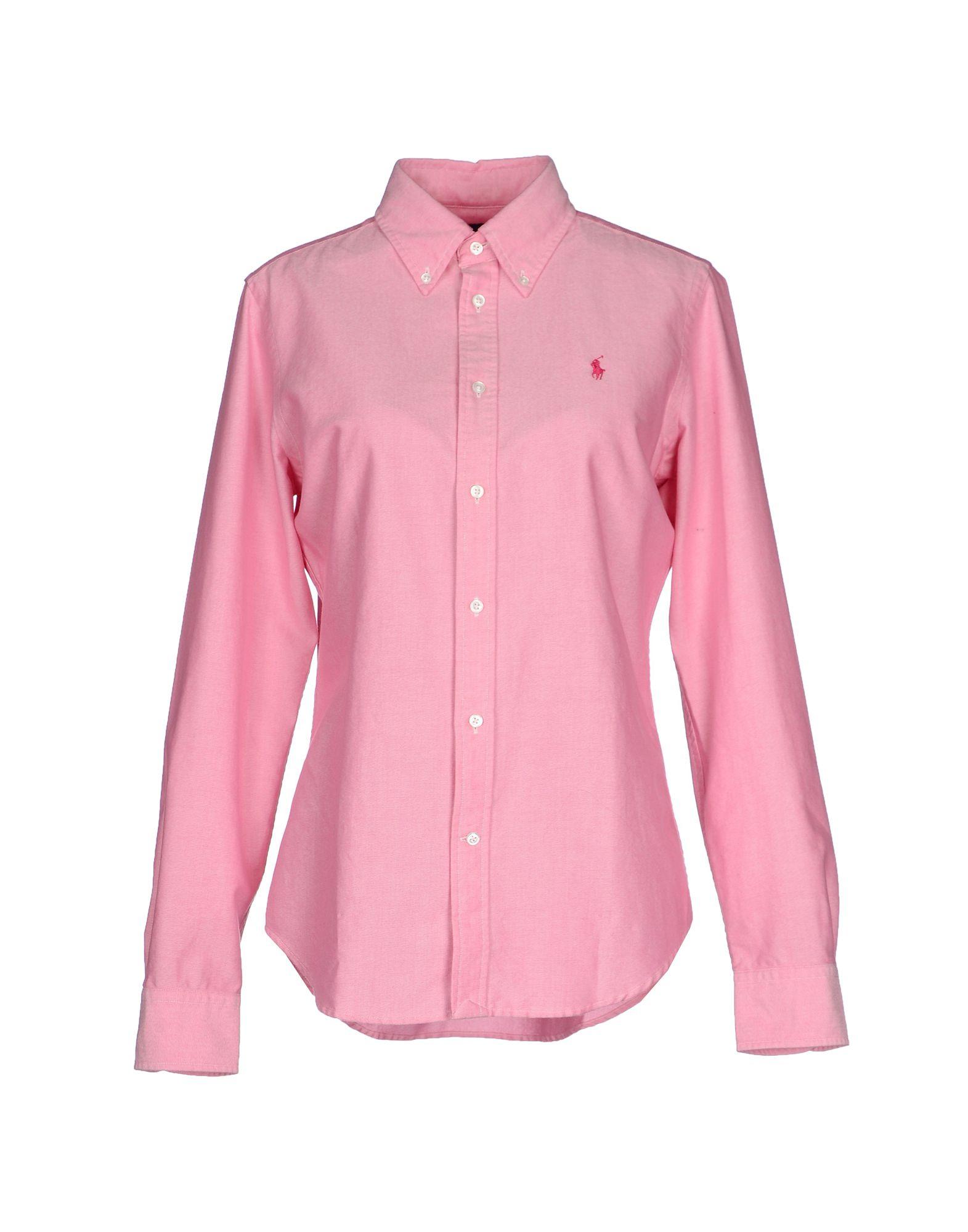 Ralph lauren shirt in pink lyst for Pink and white ralph lauren shirt