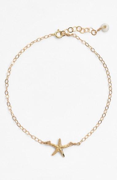 ki ele manini starfish station anklet in metallic lyst