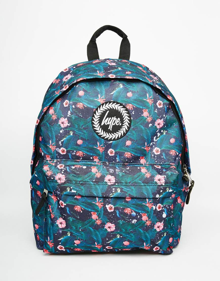 Lyst Hype Backpack In Floral Print