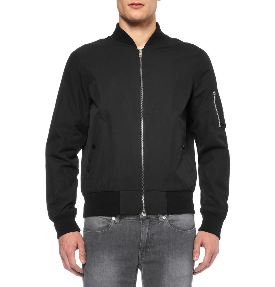 e1e2d60d5 Sandro Black Regularfit Cottonblend Bomber Jacket for men