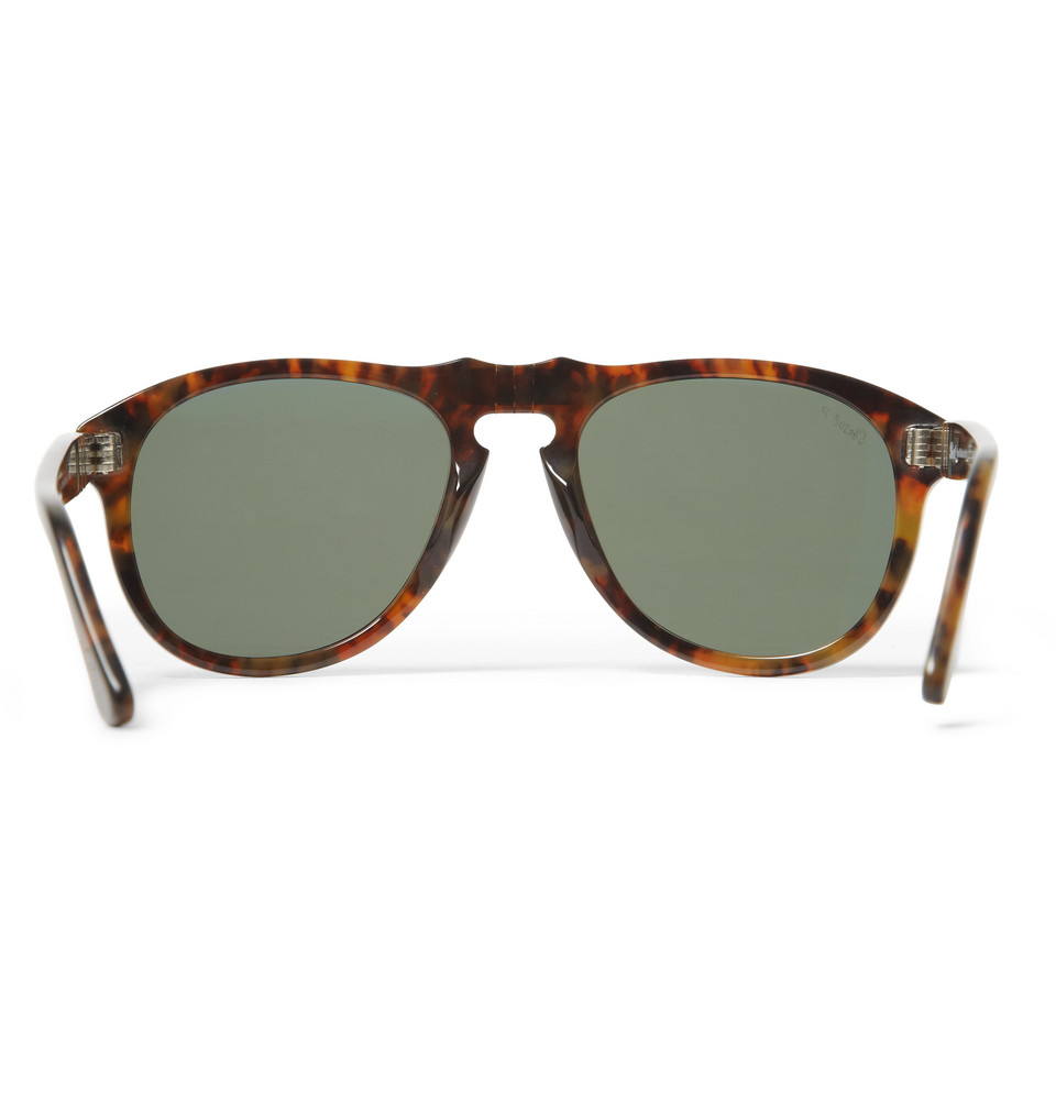 persol steve mcqueen folding acetate sunglasses in brown. Black Bedroom Furniture Sets. Home Design Ideas