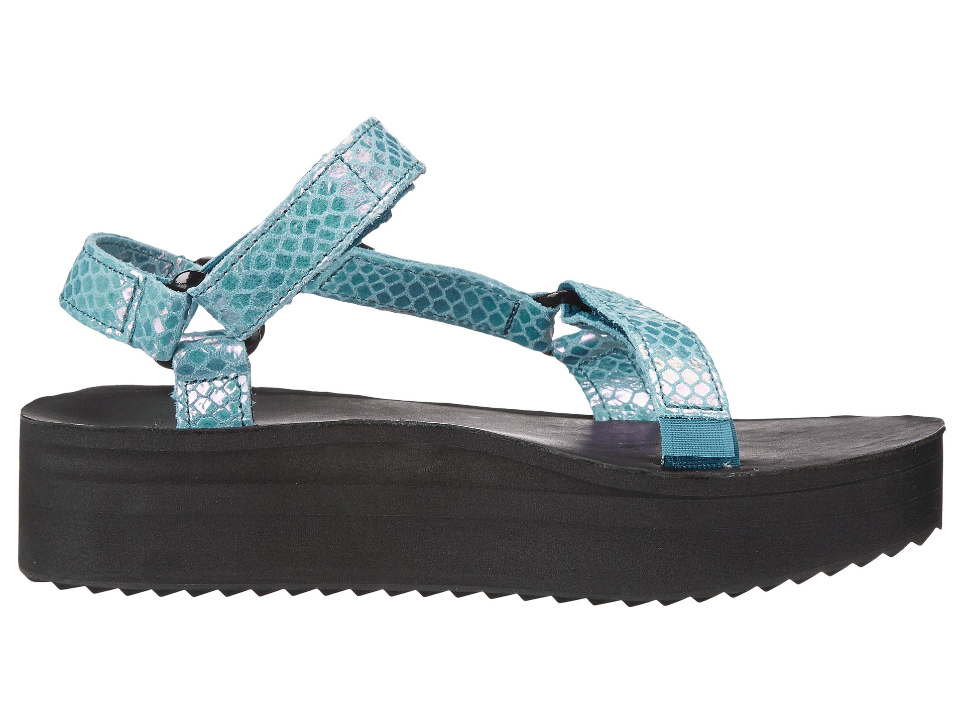 913bf5e1741 Lyst - Teva Flatform Universal Iridescent in Blue