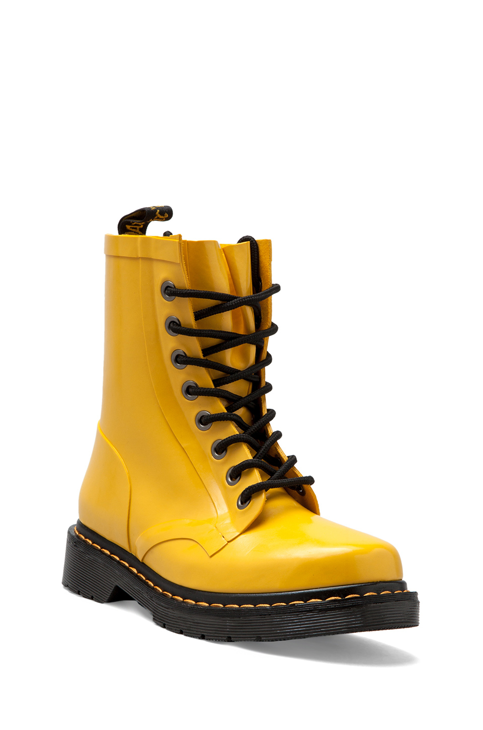 e985160e4 Dr. Martens Drench 8eye Rain Boot in Yellow in Yellow - Lyst