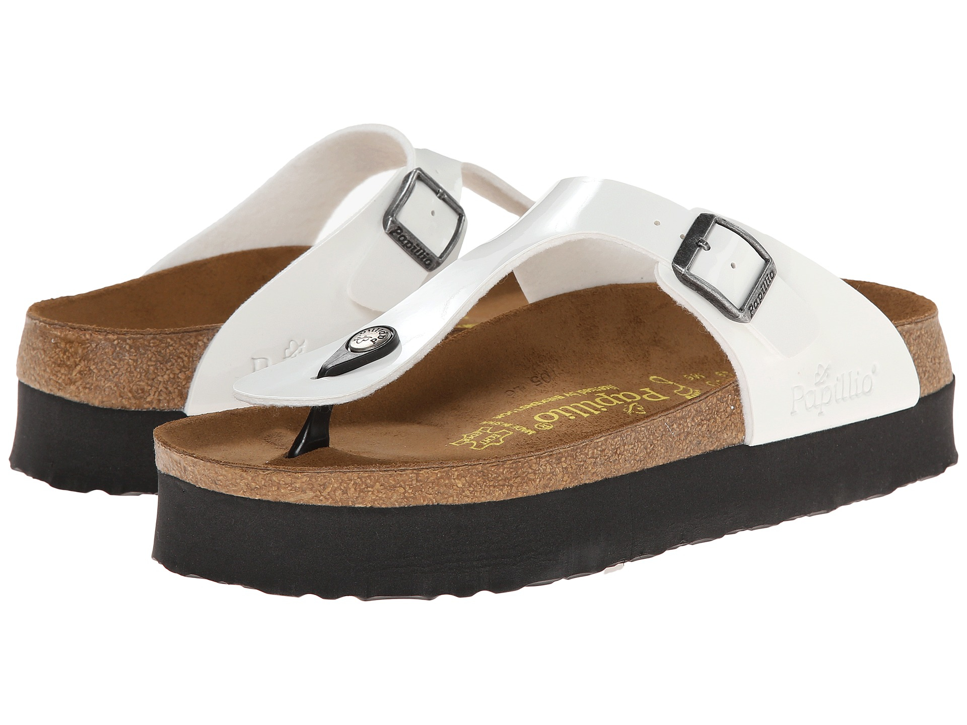26a21f5b56a Lyst - Birkenstock Gizeh Platform By Papillio in White