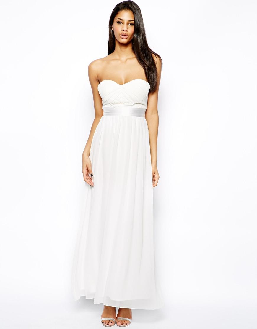 Elise ryan lace one shoulder maxi dress