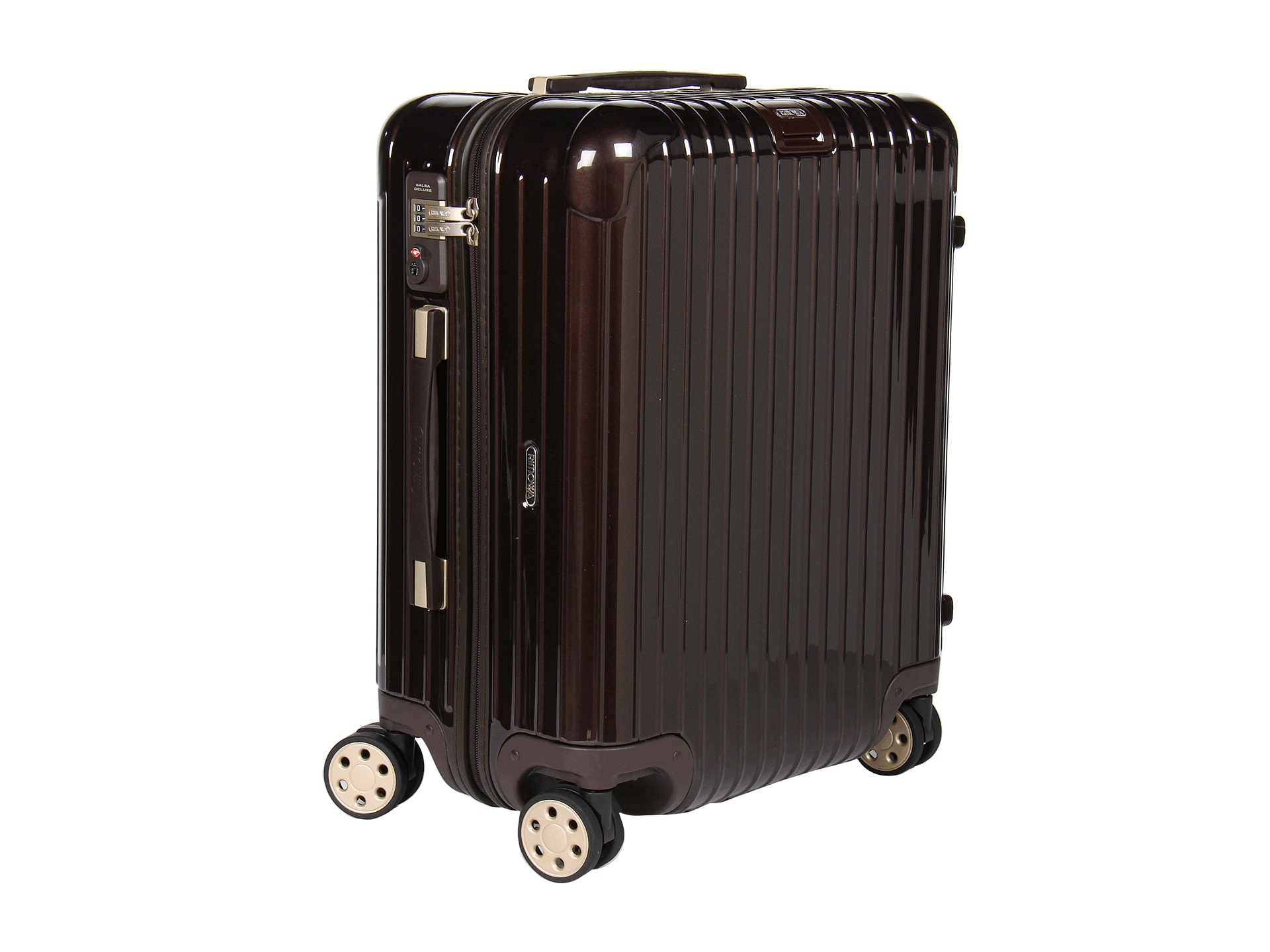 rimowa salsa deluxe cabin multiwheel in brown lyst. Black Bedroom Furniture Sets. Home Design Ideas