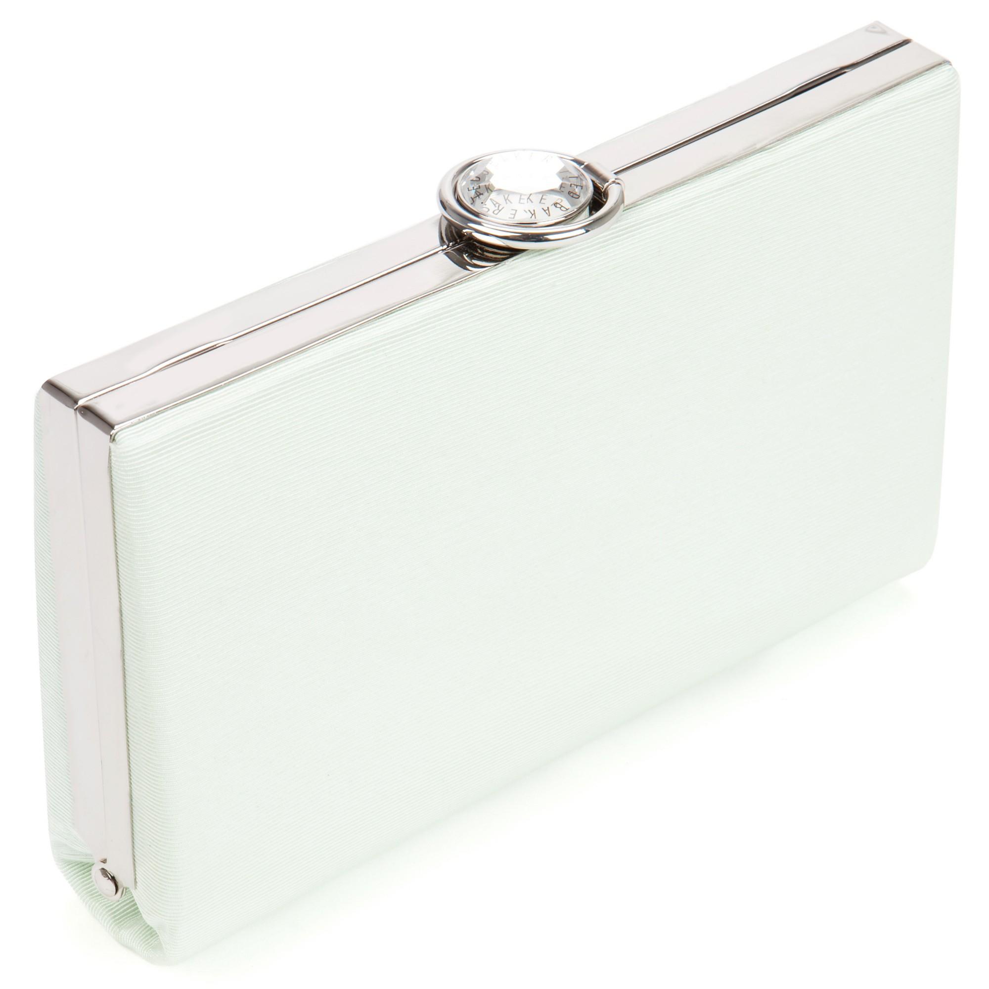 6573cbeaf699 Ted Baker Alivia Hardcase Clutch Bag in Green - Lyst