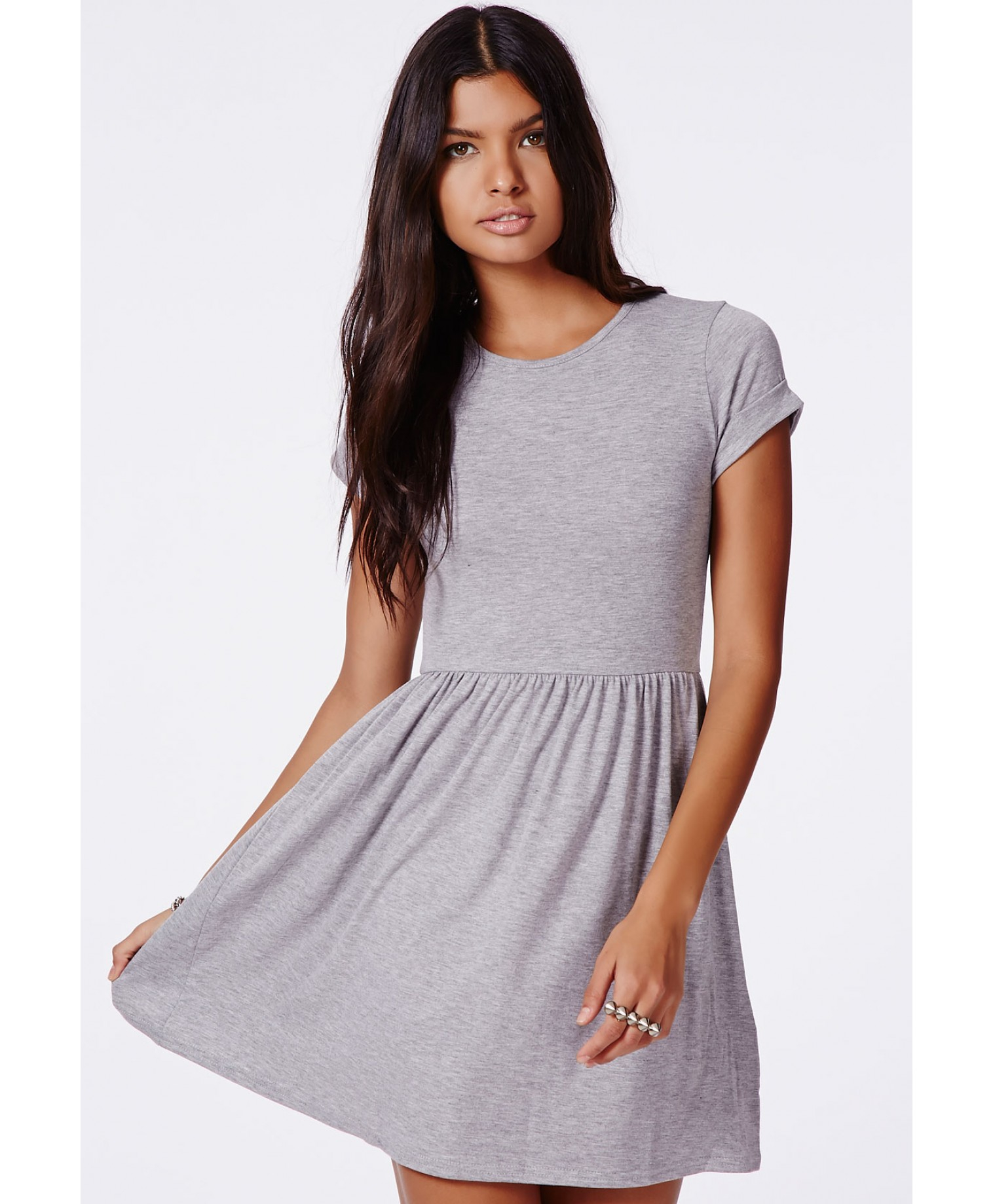Missguided Aliveta T-Shirt Skater Dress in Gray - Lyst d3e75d6a7b2b