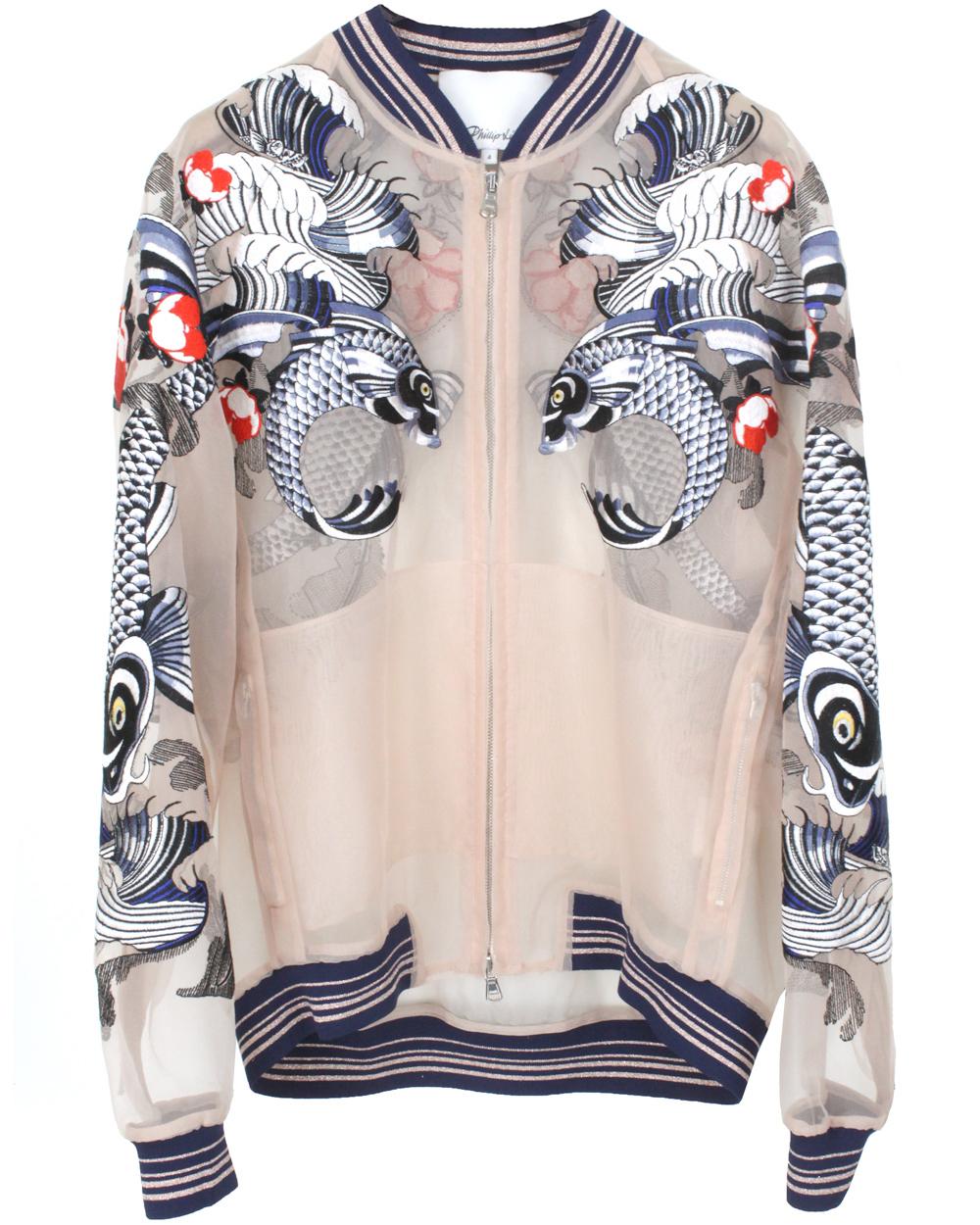 3.1 Phillip Lim   Tattoo-embroidered organza jacket   NET