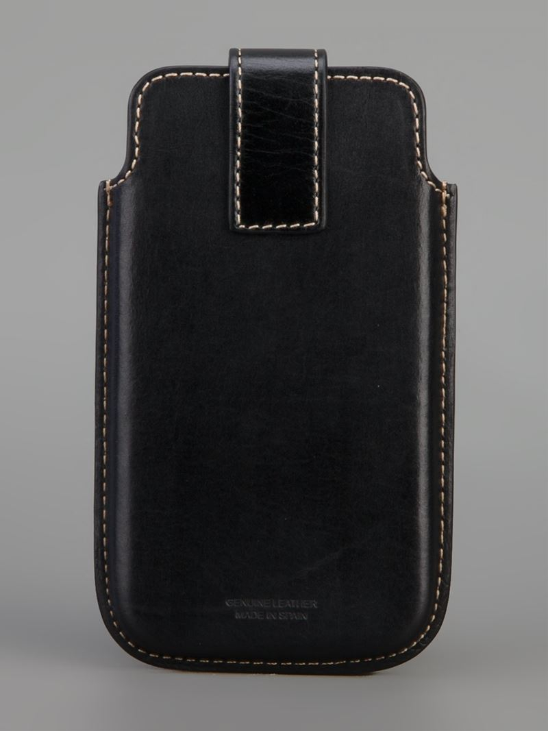 lyst paul smith leather iphone case in black for men. Black Bedroom Furniture Sets. Home Design Ideas