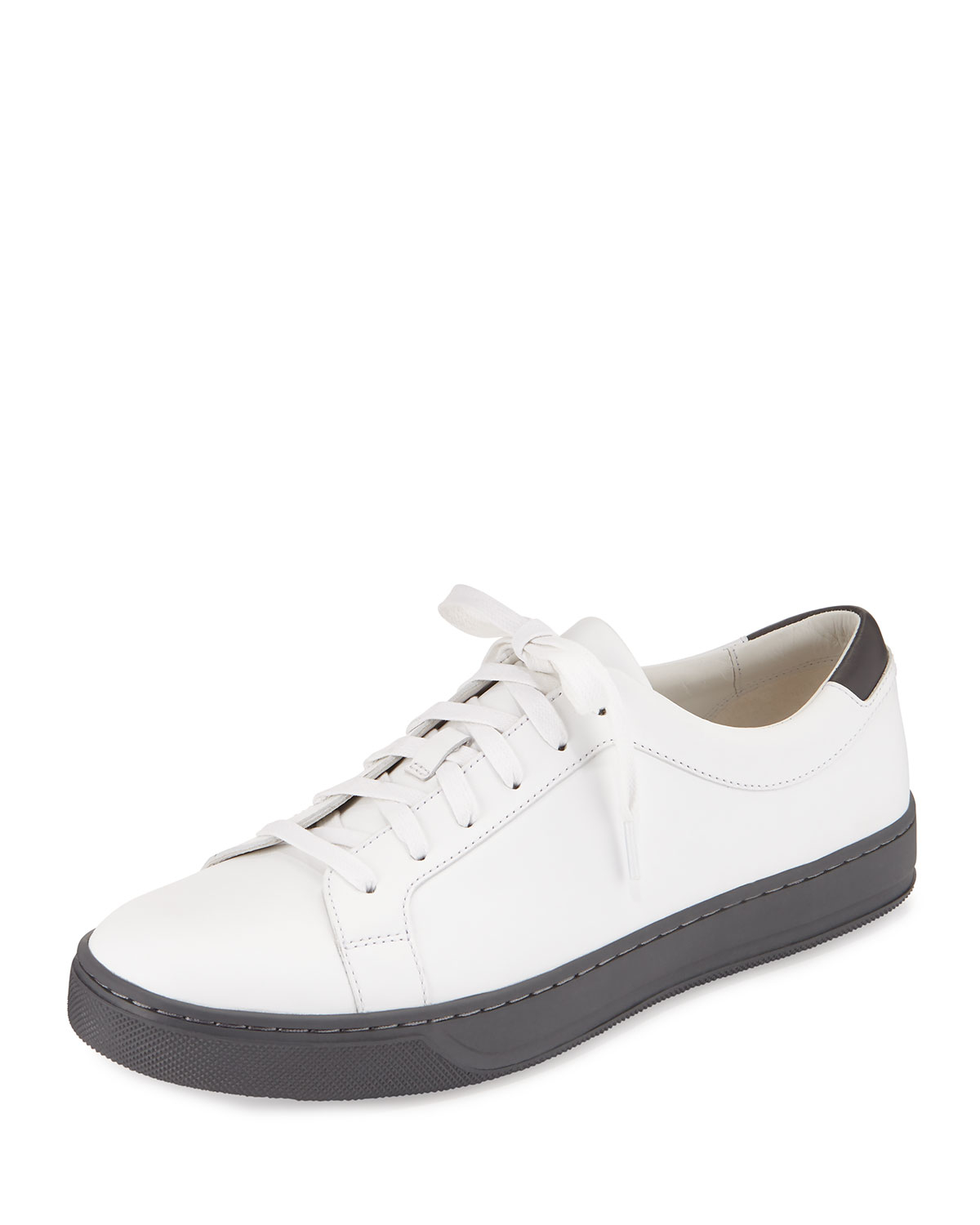 Vince Aster Leather Low-Top Sneakers in