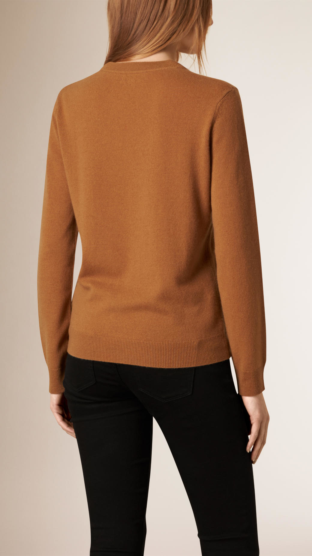 Burberry The Guardsman Wool Cashmere Sweater Mid Camel in Brown | Lyst
