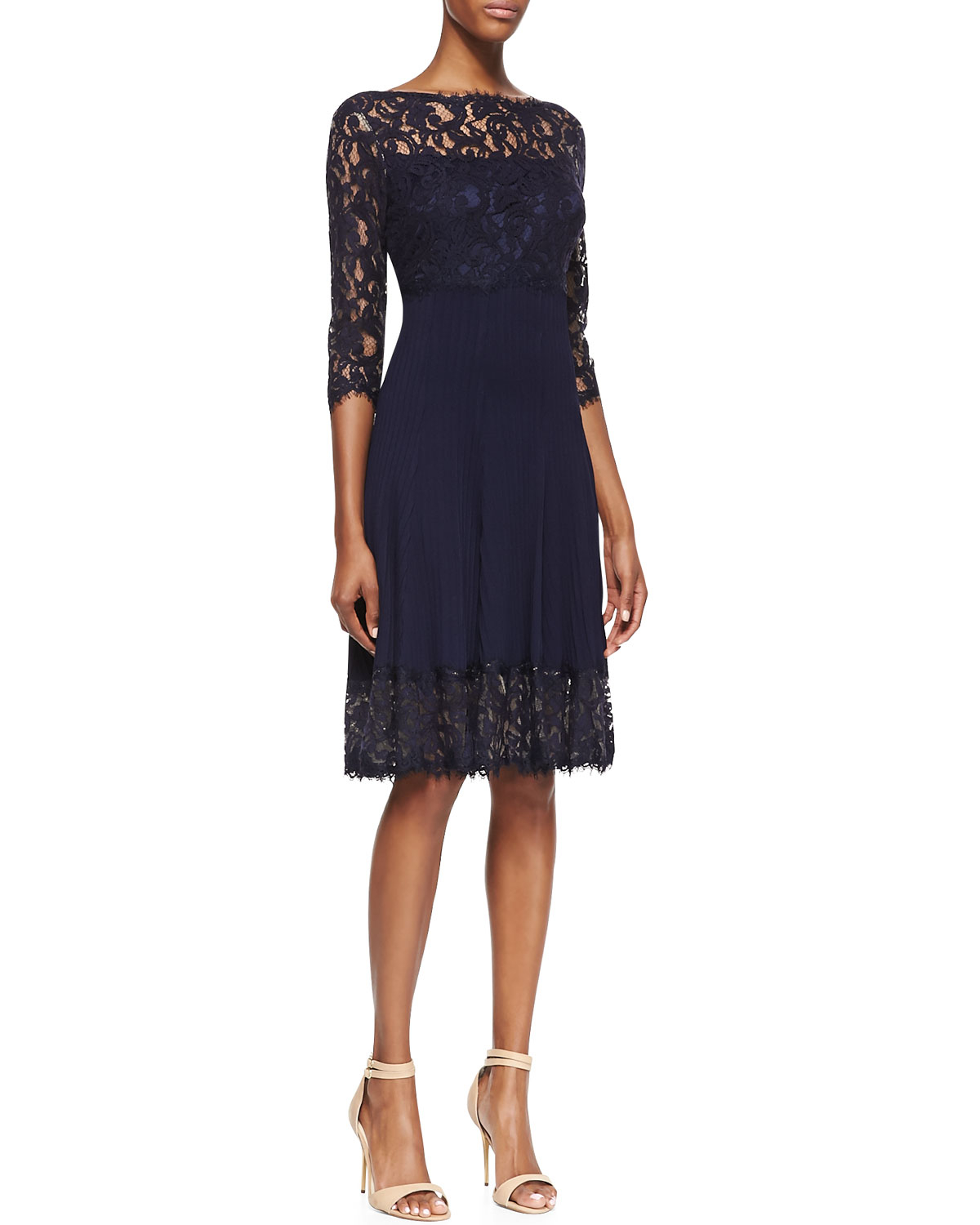 navy blue dresses with sleeves