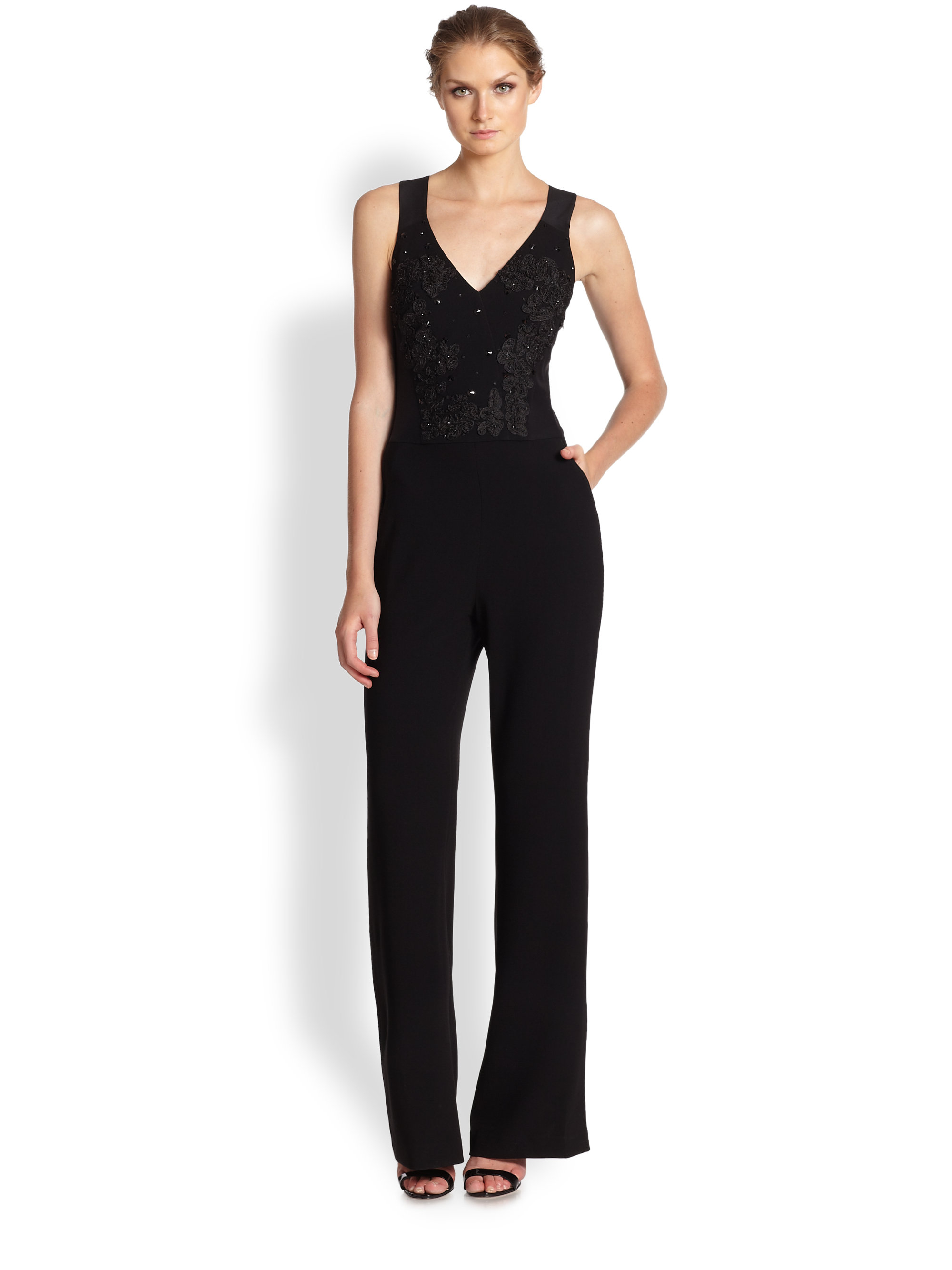 Find black v neck jumpsuit at ShopStyle. Shop the latest collection of black v neck jumpsuit from the most popular stores - all in one place.