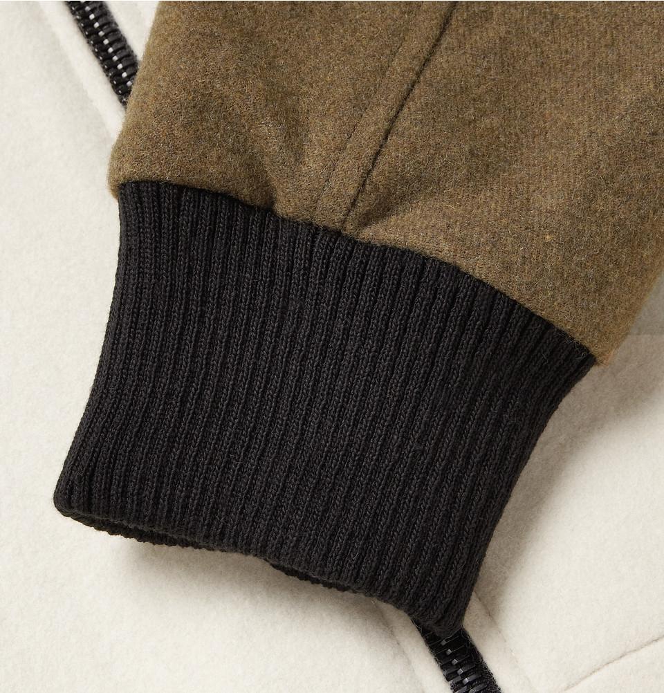 3ea4e3c68 Christopher Raeburn Natural Contrast-Sleeve Merino Wool Bomber Jacket for  men