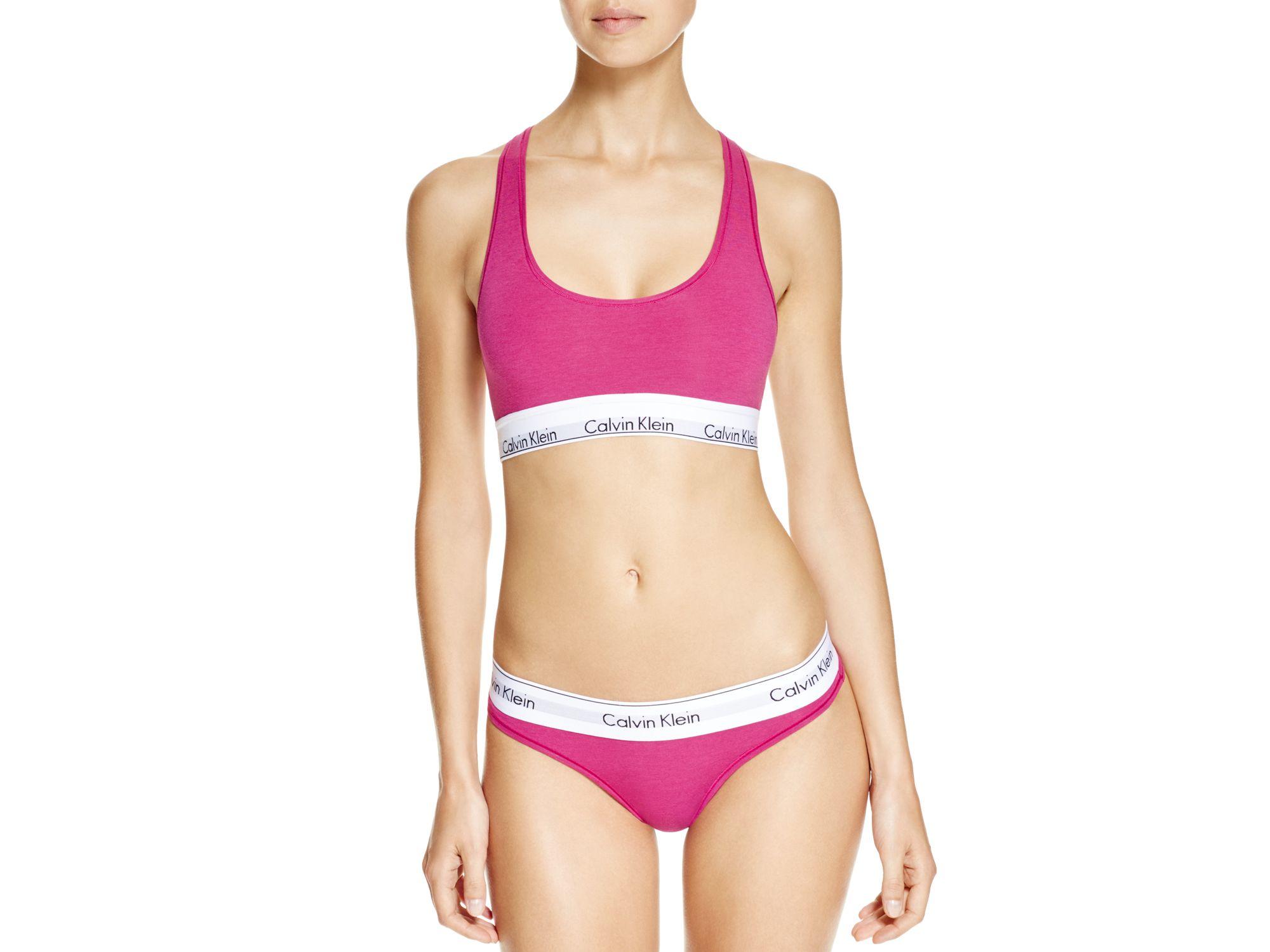 c8dc94f037 Calvin Klein Bralette - Modern Cotton  f3785 in Pink - Lyst