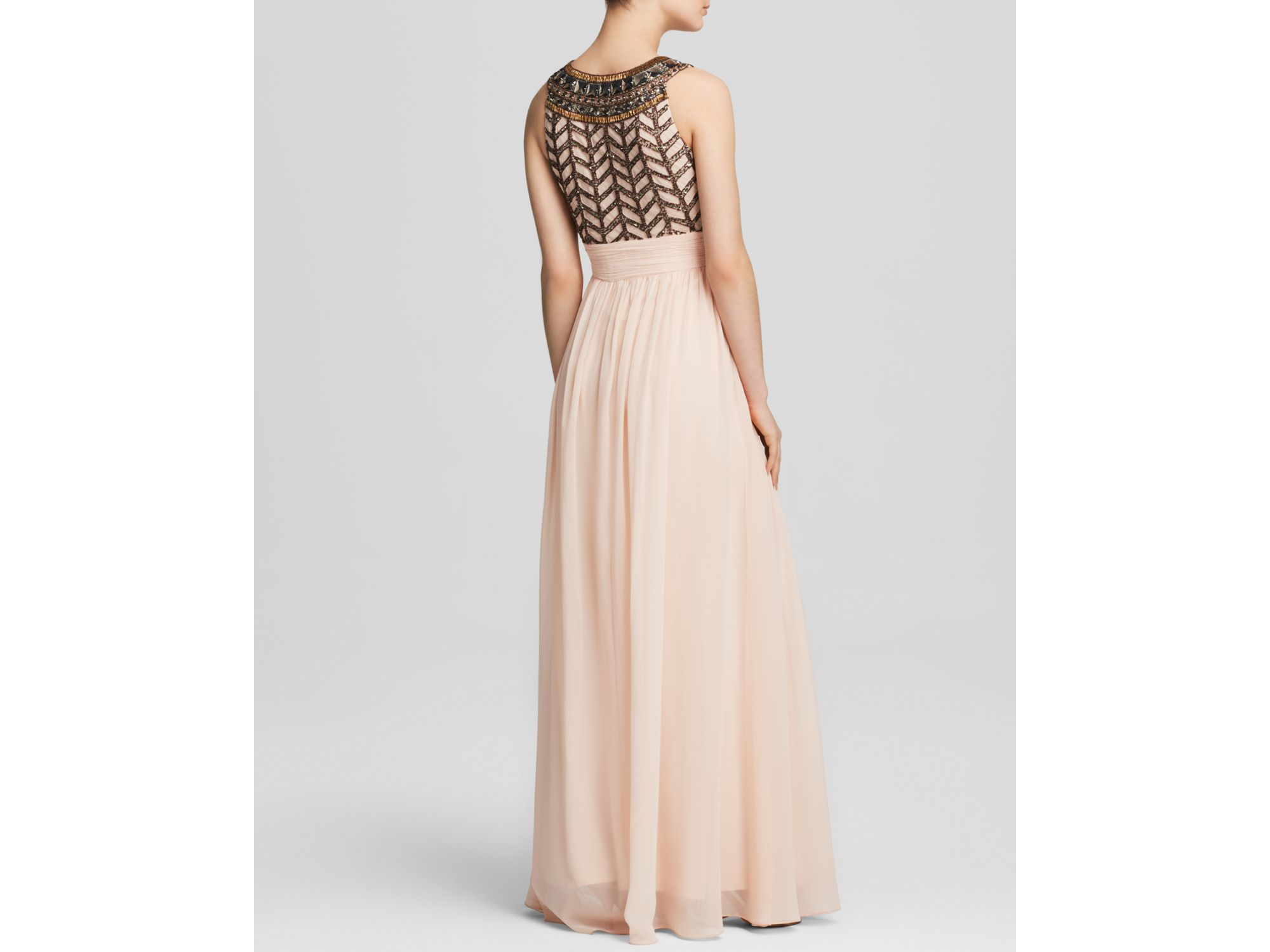 Lyst - Js Collections Gown - Chiffon Beaded Bodice in Pink