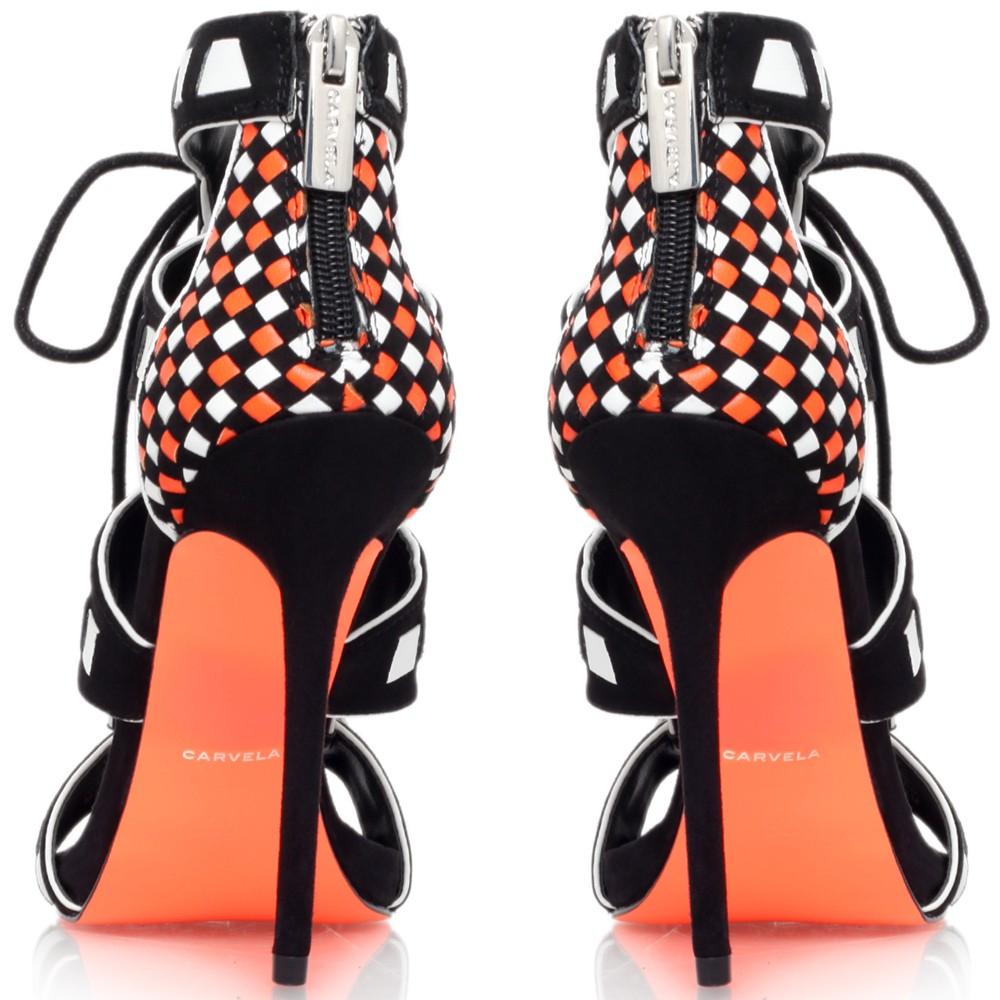 3e5bae3abdf Carvela Kurt Geiger Giraffe Cut Away Lace Up Stiletto Sandals in ...