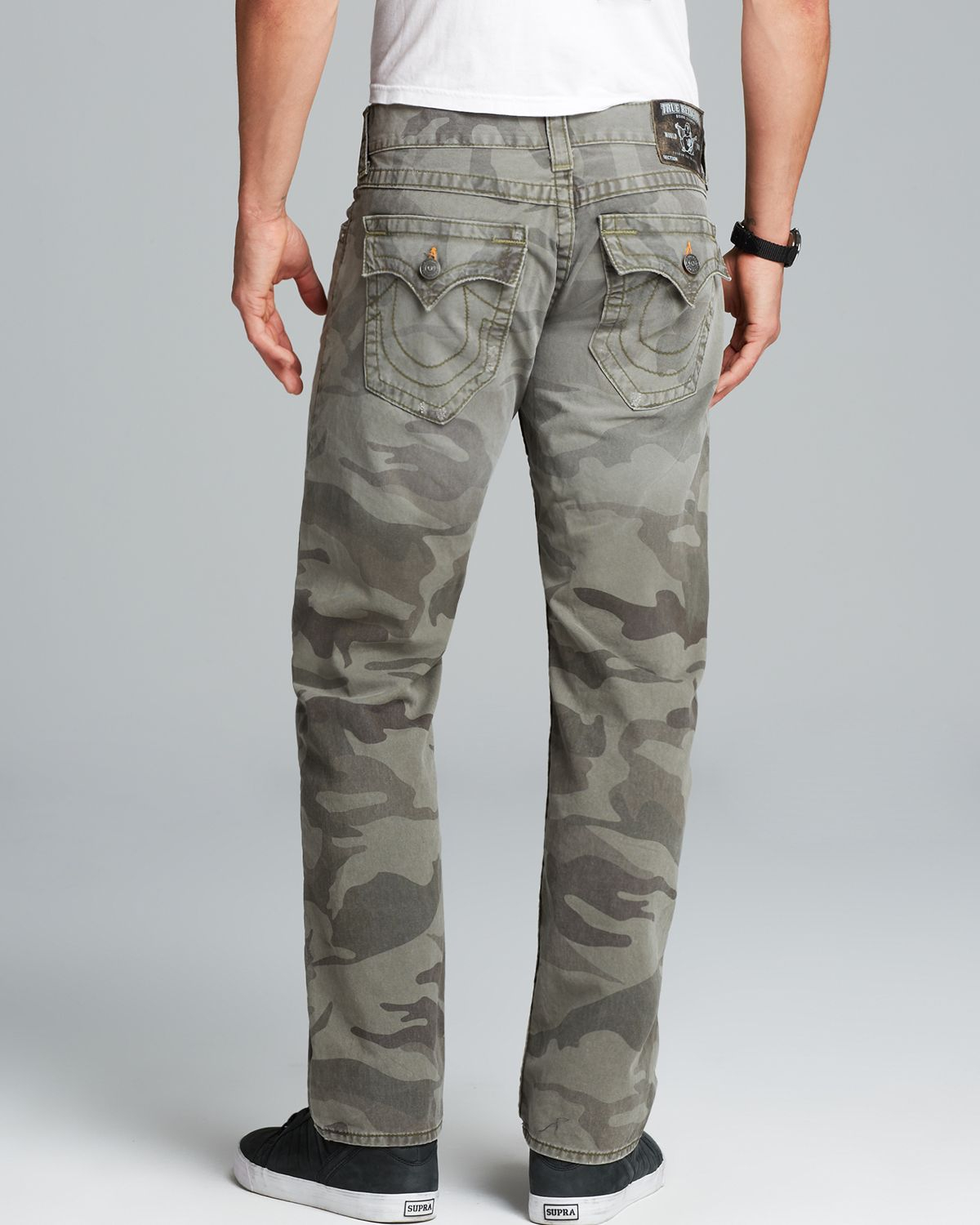 True religion Jeans - Ricky Straight Fit In Camo in Gray for Men ...