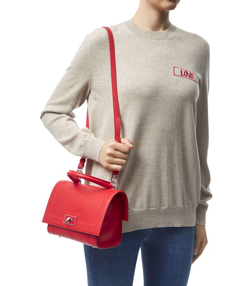 b7b1a61d11 Givenchy Mini Grain Shark Bag in Red - Lyst