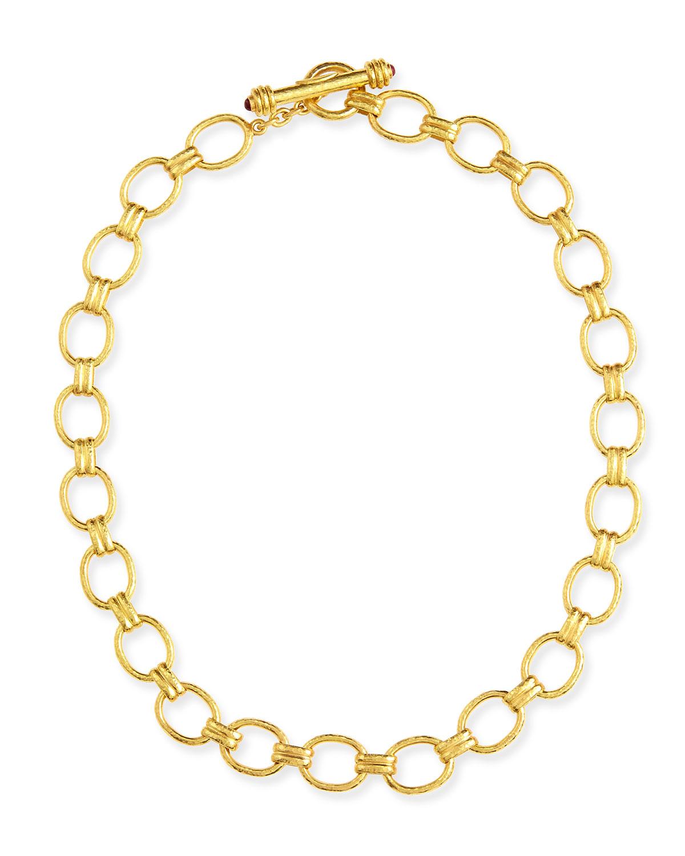 Elizabeth Locke 19k Fine Gold Link Necklace, 17L