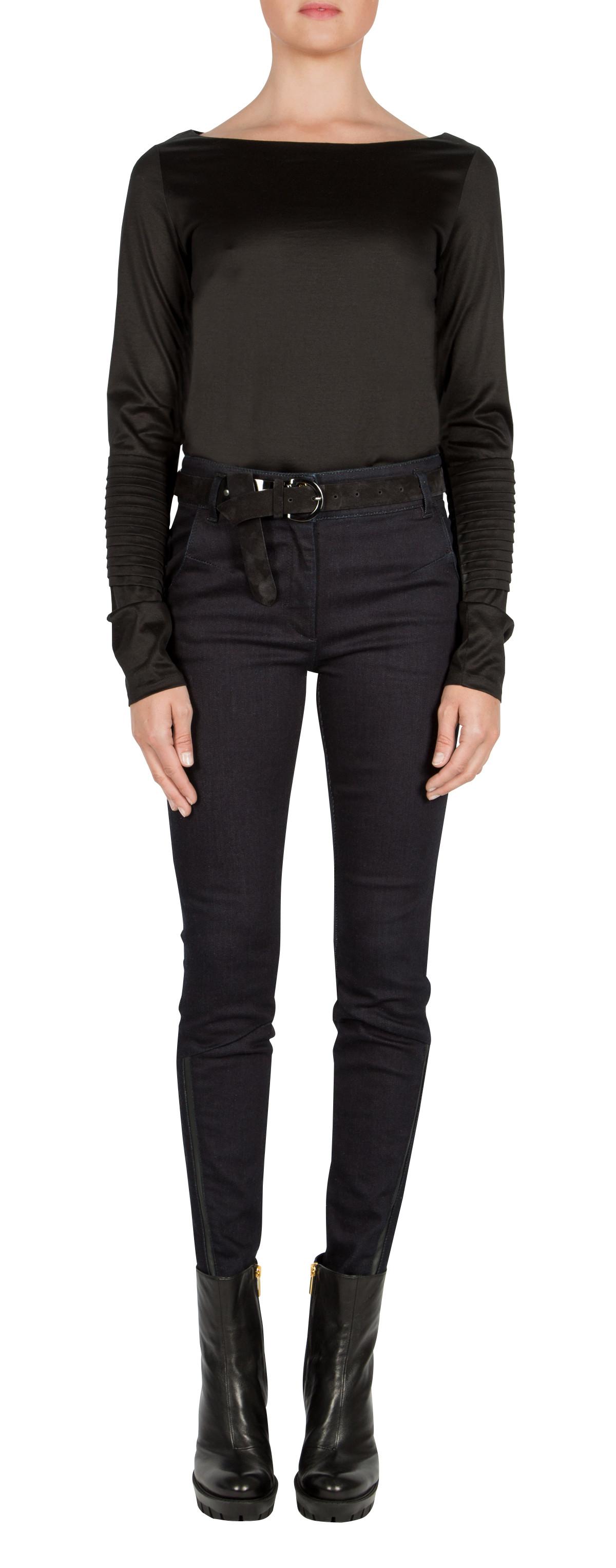 dorothee schumacher structural effects shirt boatneck 1 1 in black lyst. Black Bedroom Furniture Sets. Home Design Ideas