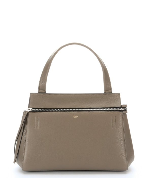 C¨¦line Grey Pebbled Leather \u0026#39;Edge\u0026#39; Satchel Bag in Gray (grey) | Lyst