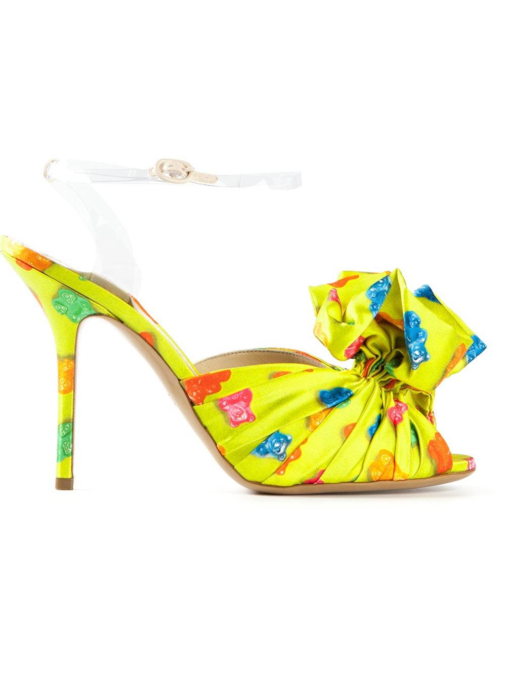 87b79deac8f447 Moschino Gummy Bear Print Sandals in Yellow - Lyst