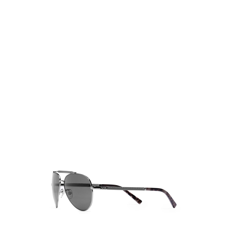 ecb153059 Lyst - Michael Kors Colton Aviator Sunglasses in Metallic for Men