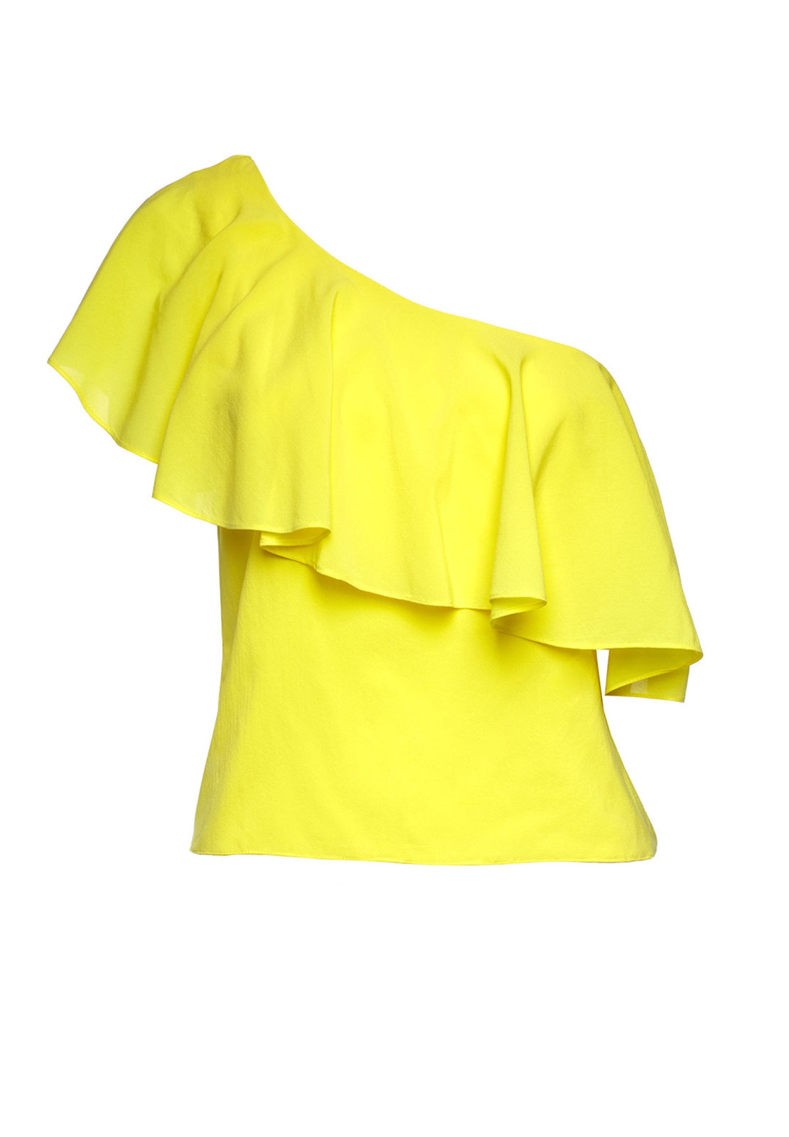 One Shoulder Yellow Top
