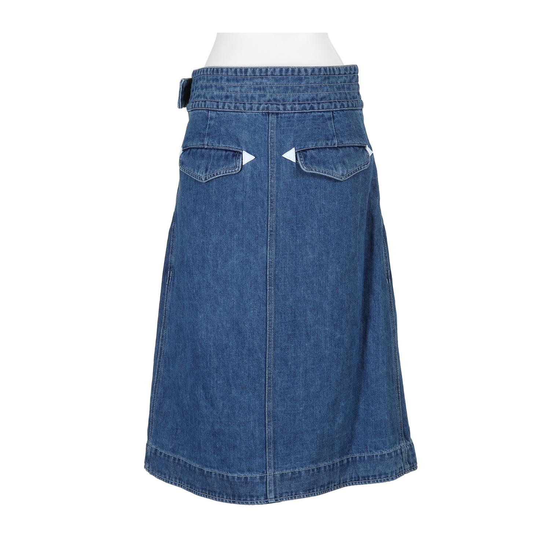 sacai skirt in blue light blue lyst