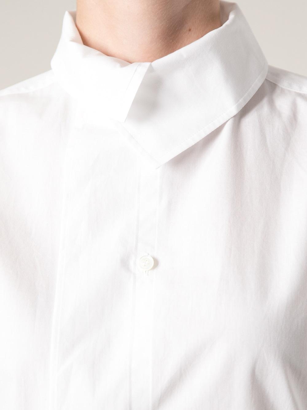 Lyst Y S Yohji Yamamoto High Collar Blouse In White